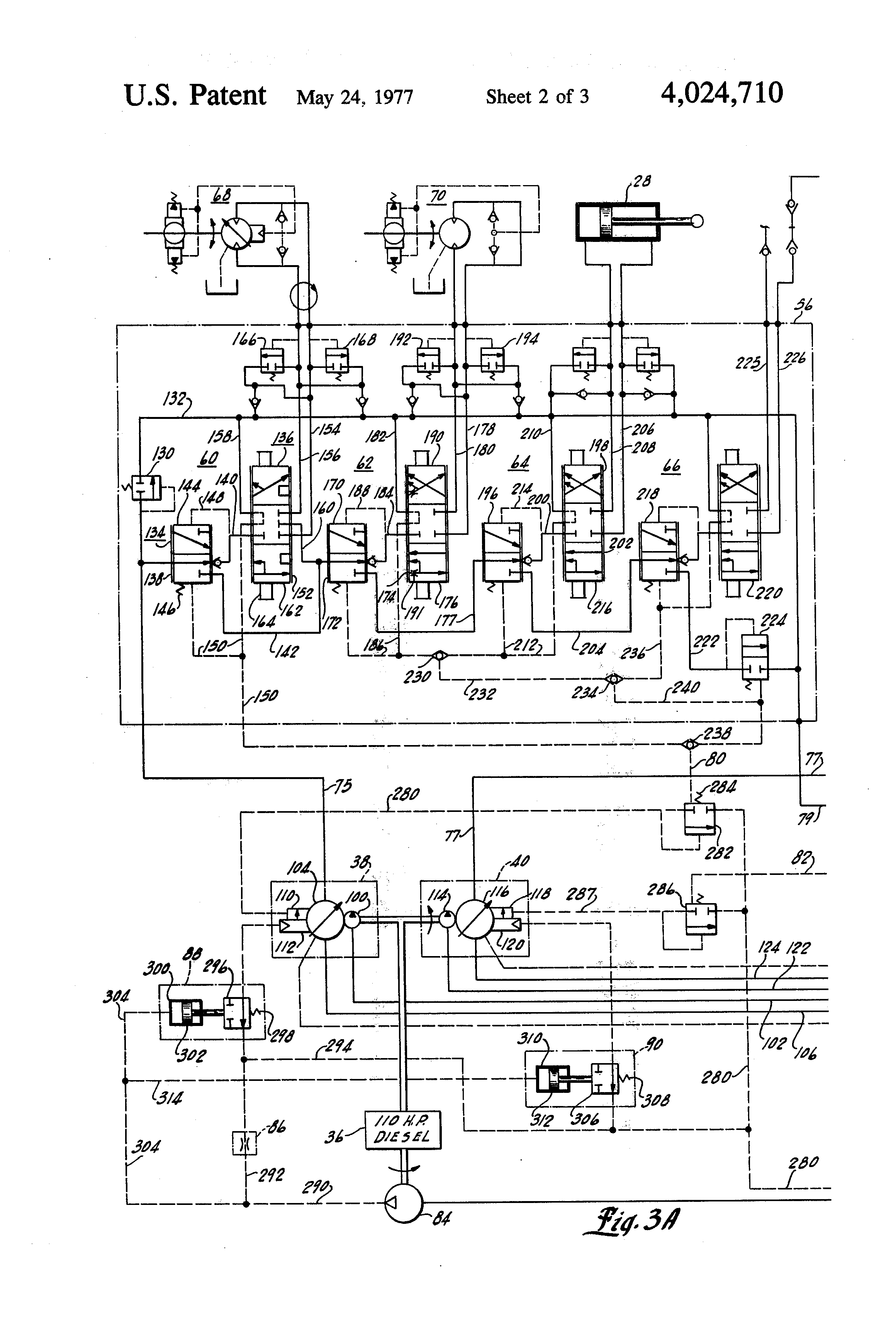 US4024710 2 patent us4024710 load sensing hydraulic circuit having power cat 287b wiring diagram at eliteediting.co