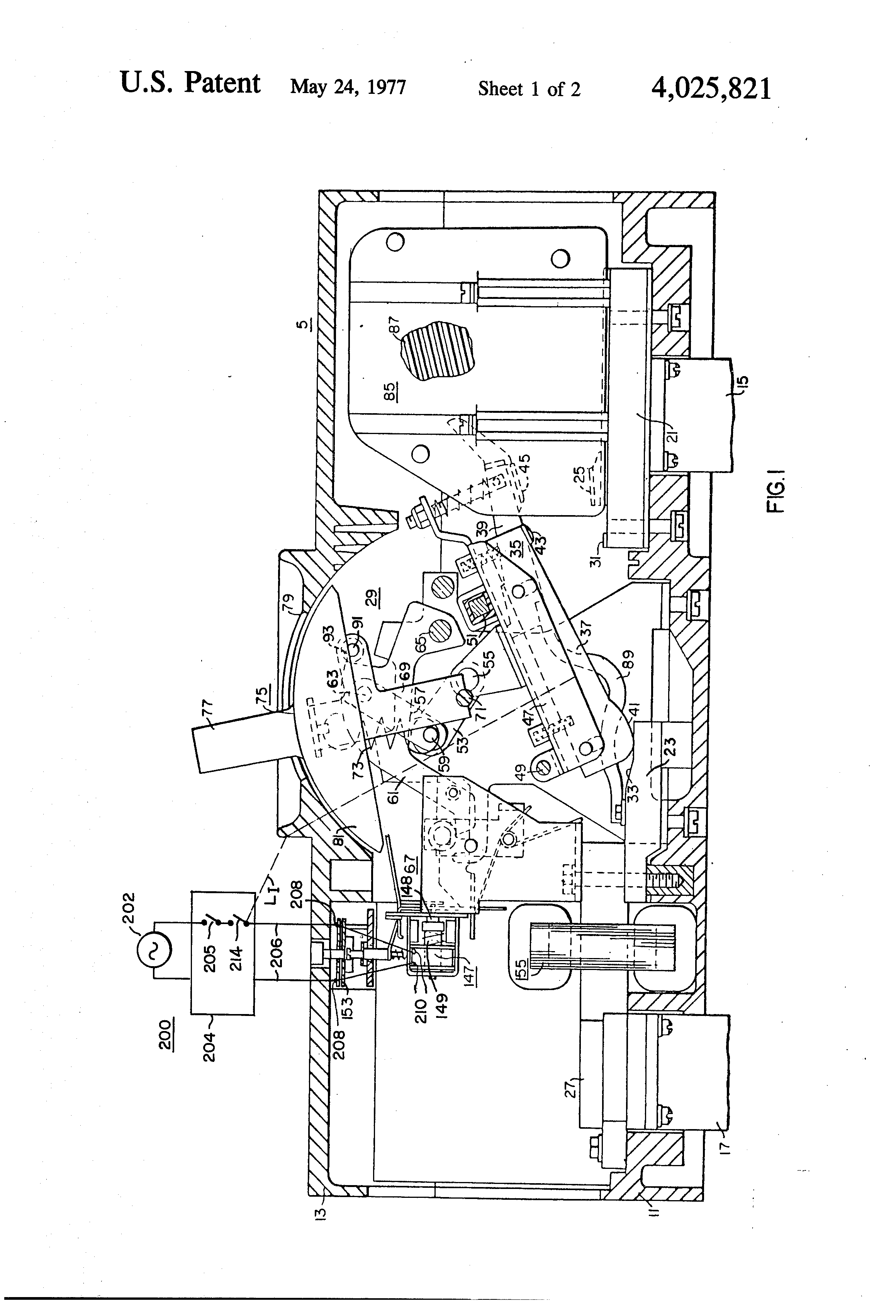 Patent Us4025821 Circuit Breaker With Improved Trip Means Having A Wiring Diagram In Addition Shunt On Drawing