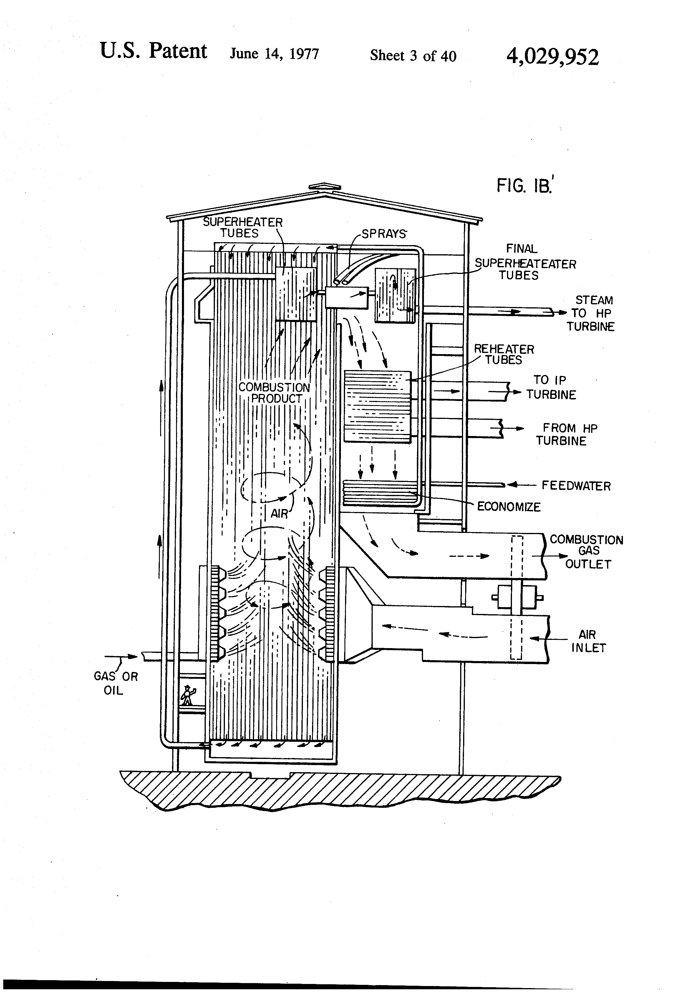 Brevet Us4029952 Electric Power Plant Multiple Computer Patent Ford Abs System Wiring Diagram Drawing Schematic