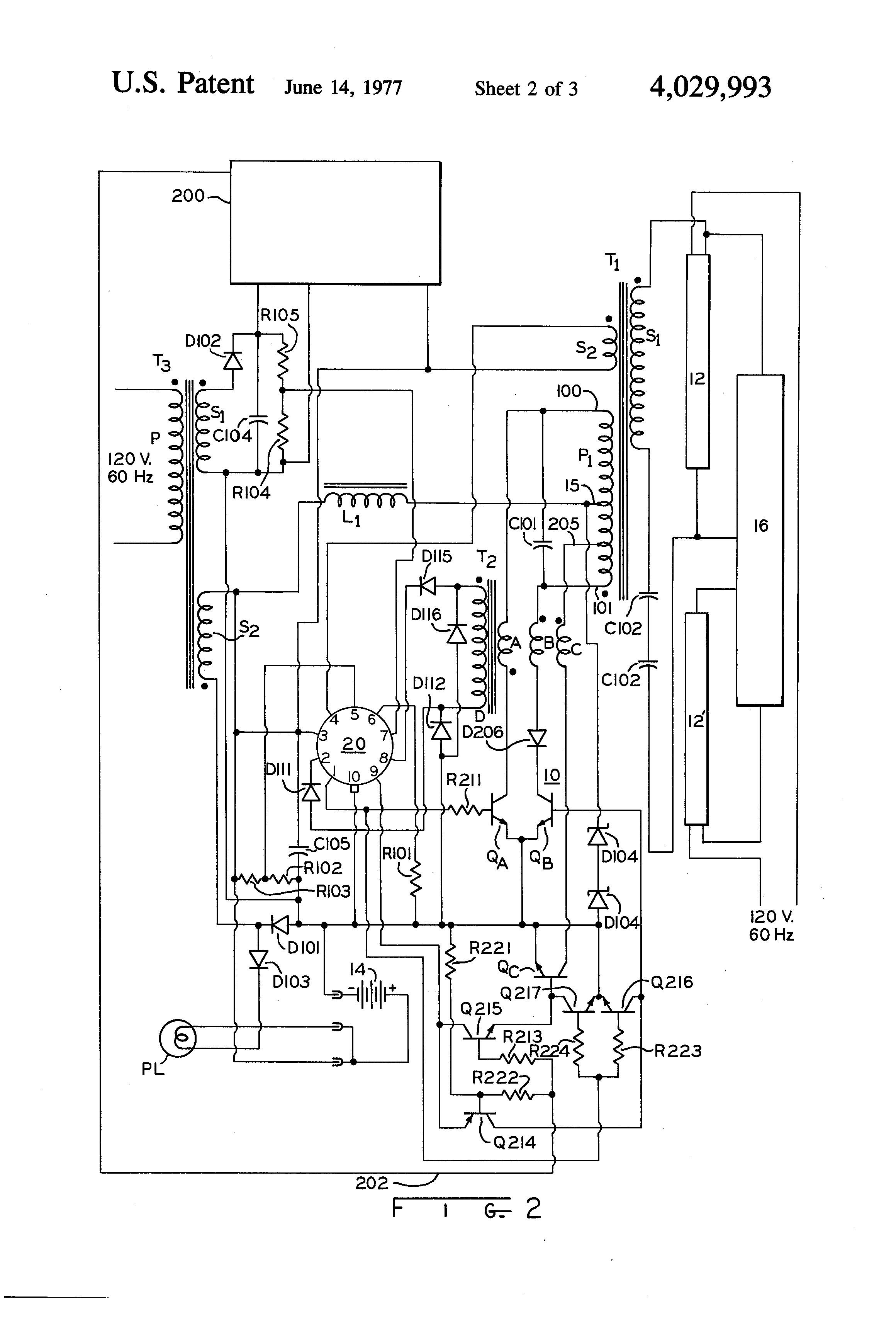 patent us4029993 - two level inverter circuit