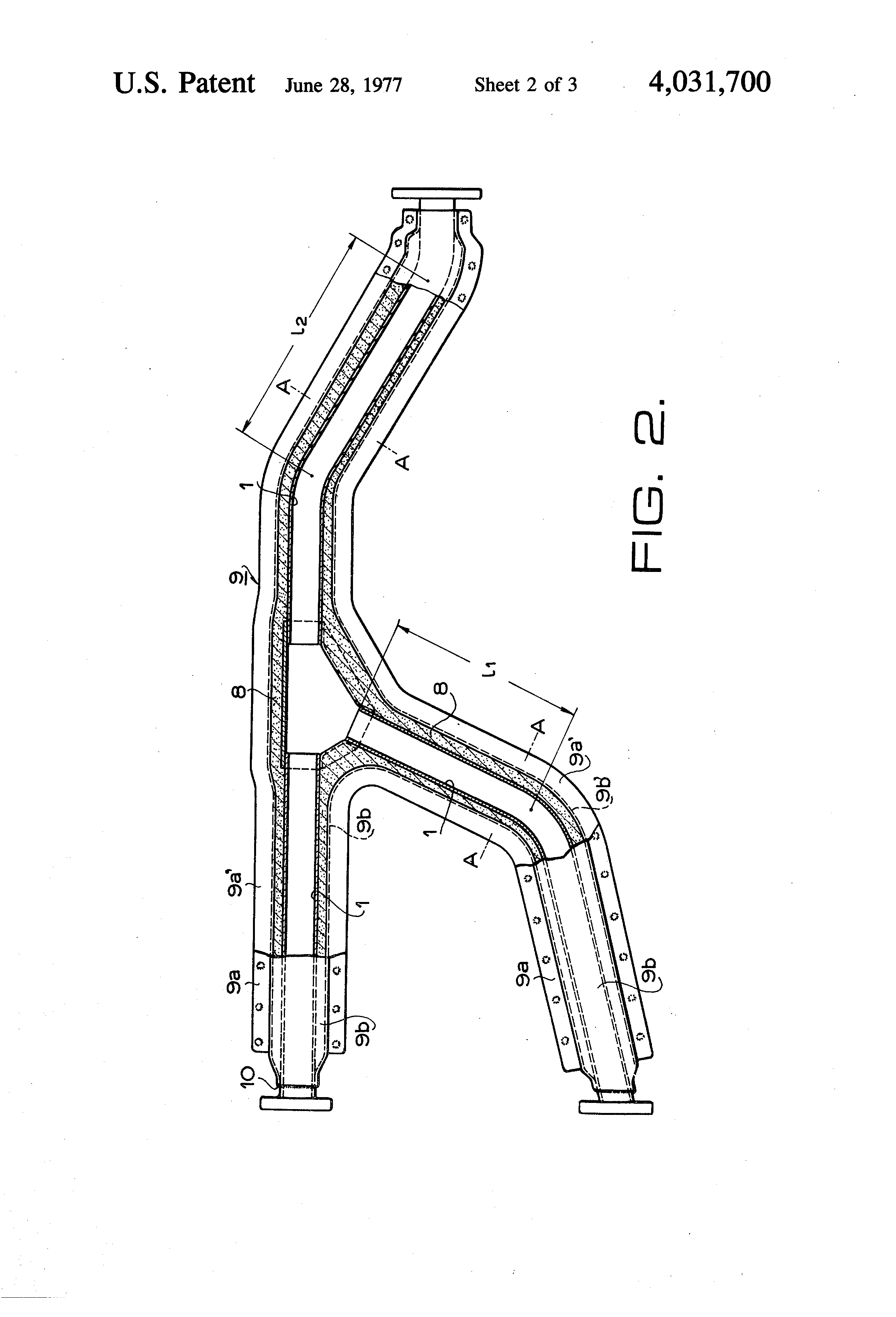 Patent Us4031700 Heat Insulating Apparatus For Exhaust