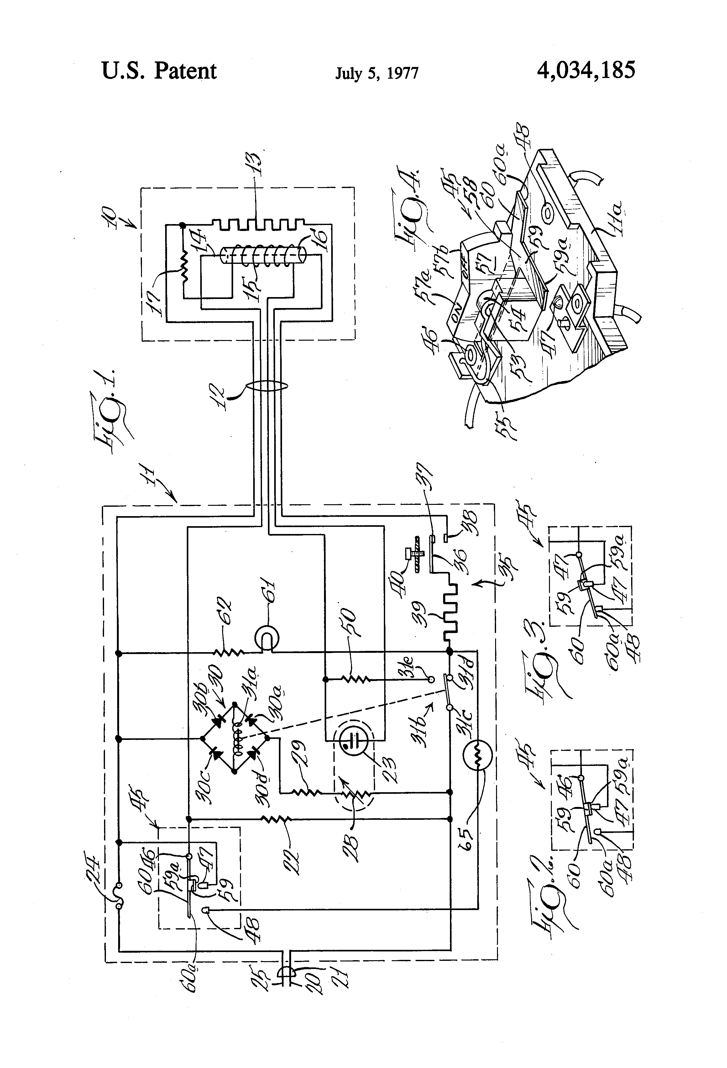 patent us4034185 - electric blanket control circuit
