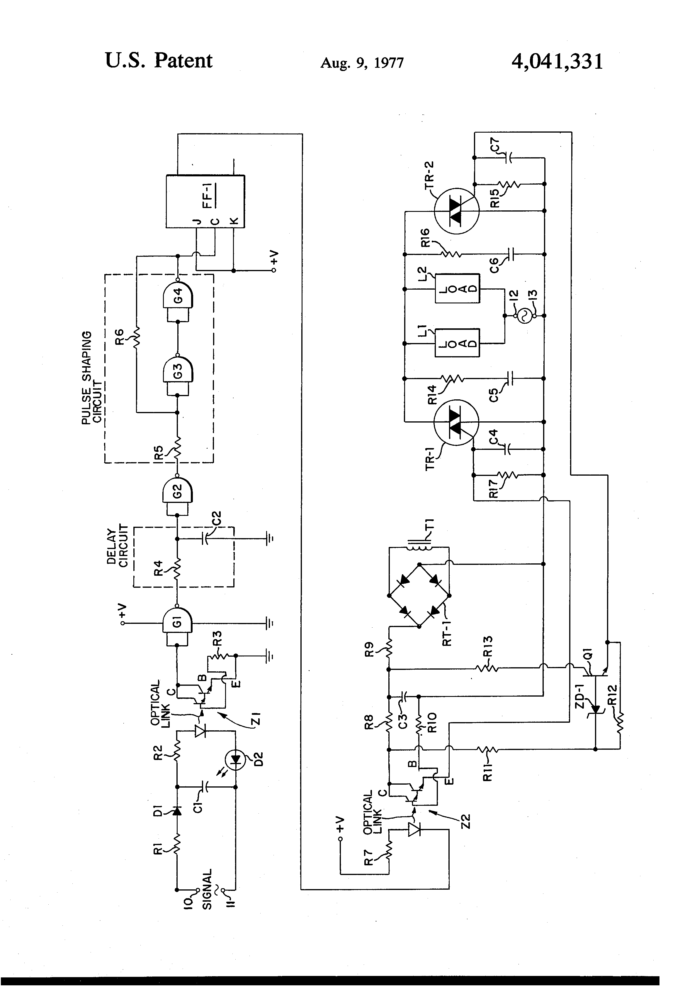patent us4041331 - solid state relay circuit