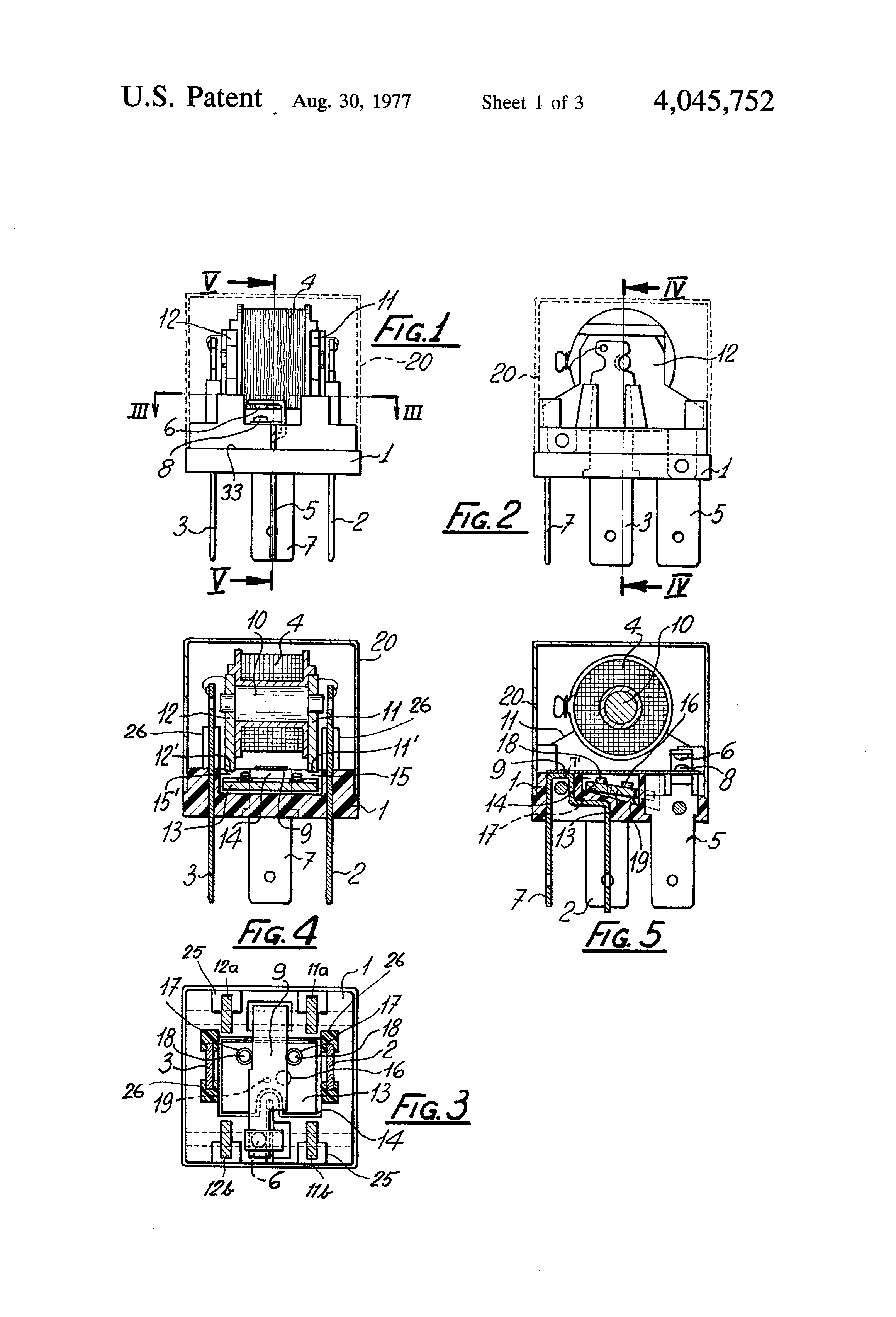Patent Us4045752 Compact Electromagnetic Relay Particularly For Fiamm Wiring Diagram Drawing