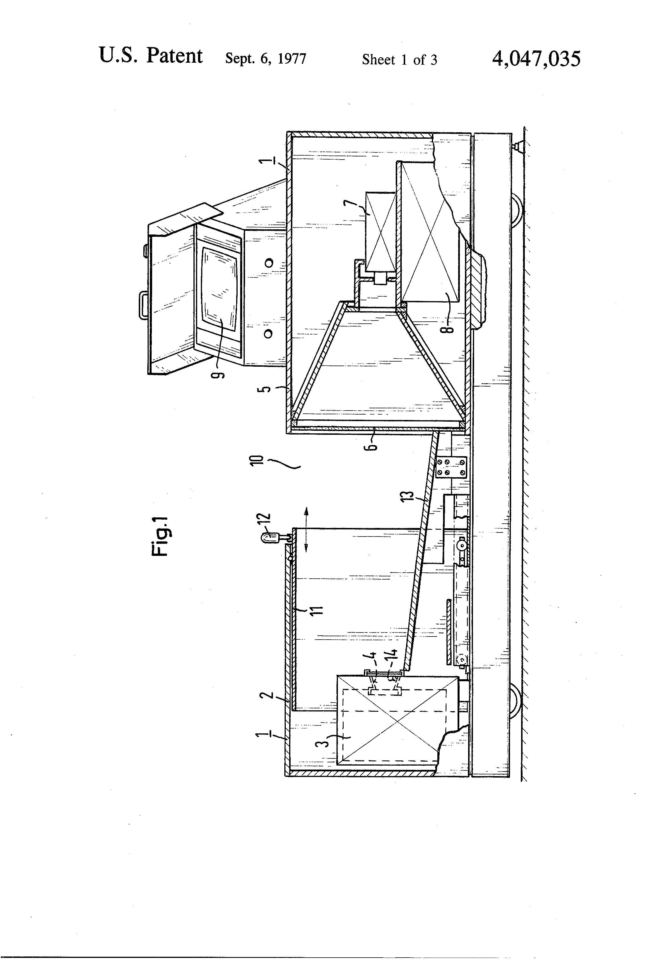 patent us4047035 - baggage inspection device
