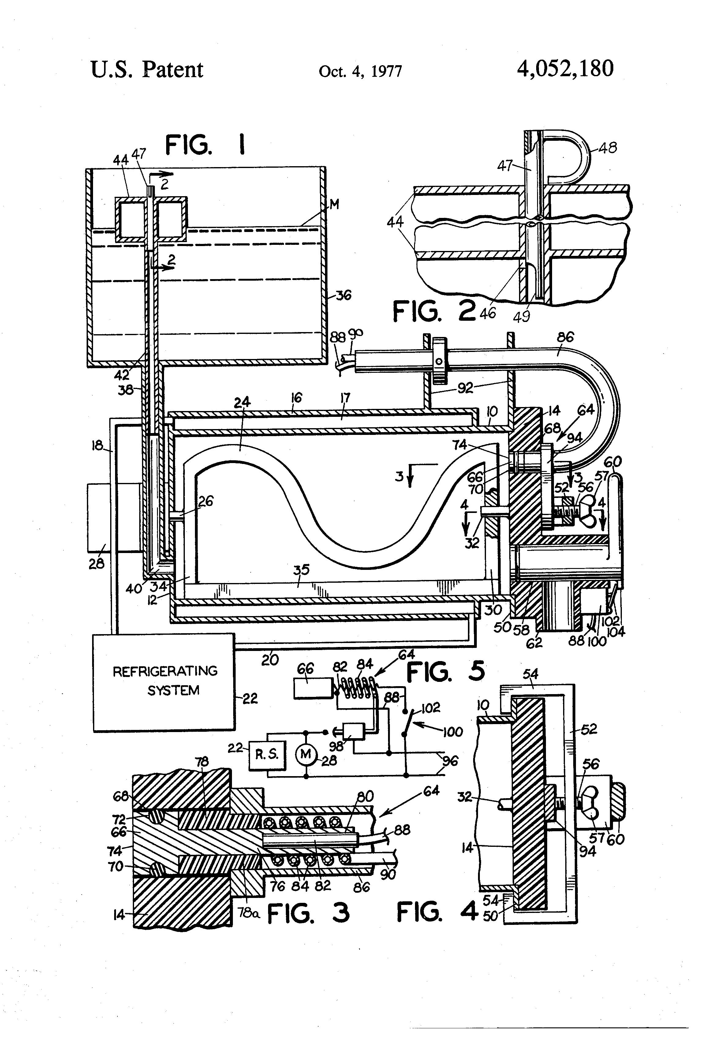 soft ice cream machine wiring diagram soft diy wiring diagrams patent us4052180 soft ice cream machine google patents