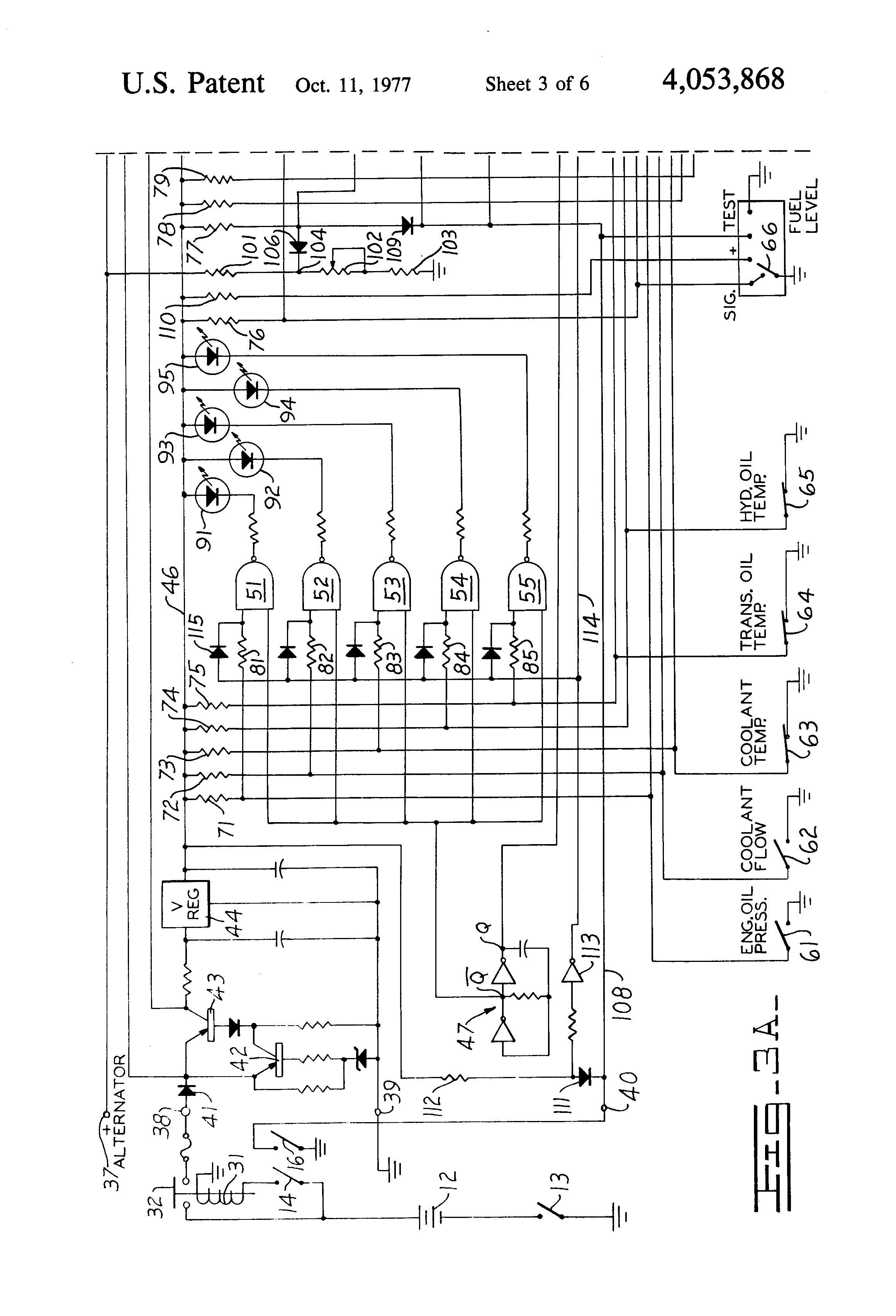 patent us4053868 - vehicle system monitor
