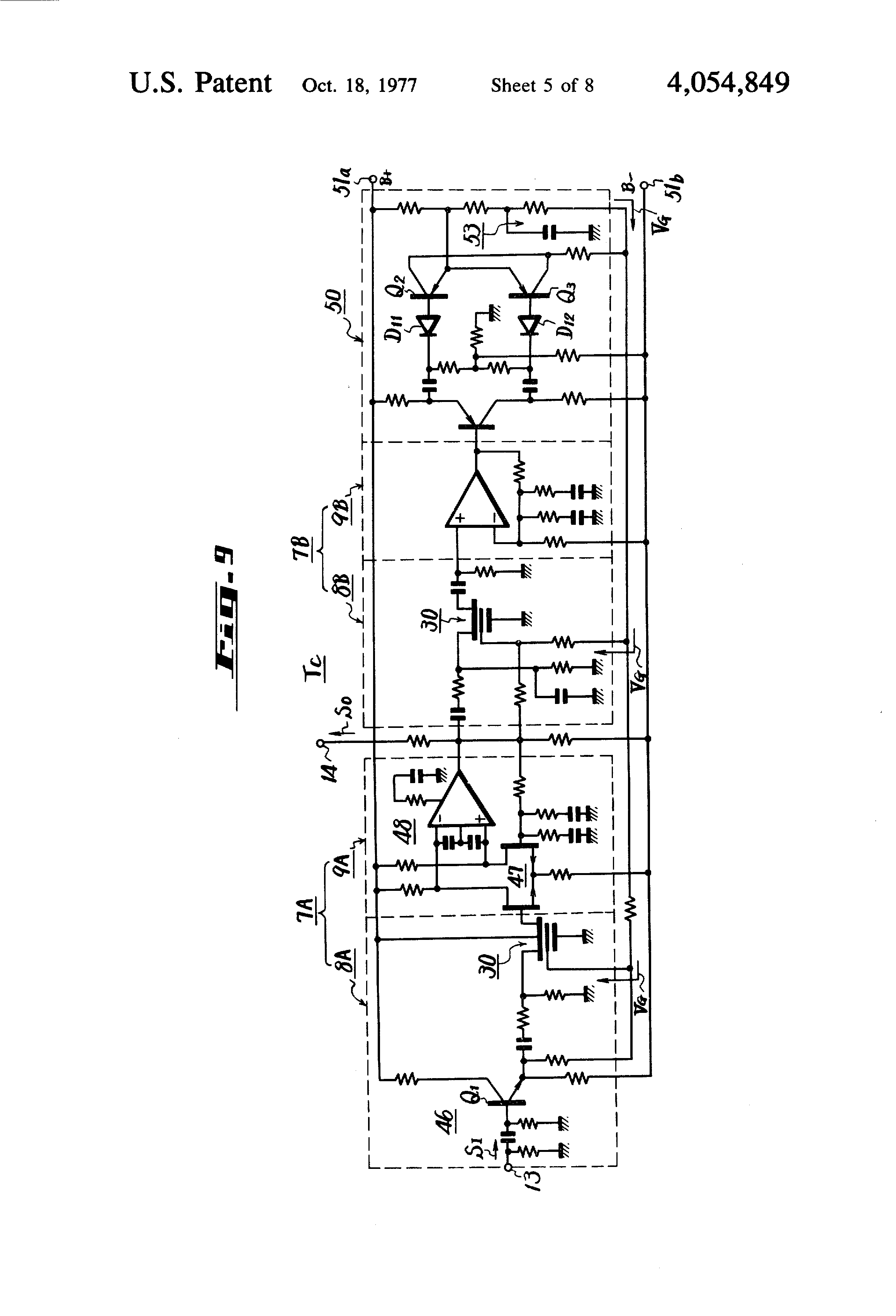 Patent Us4054849 Signal Compression Expansion Apparatus Google Voltagecontrolled Amplifier Using Mosfet Gain Control Circuit Drawing