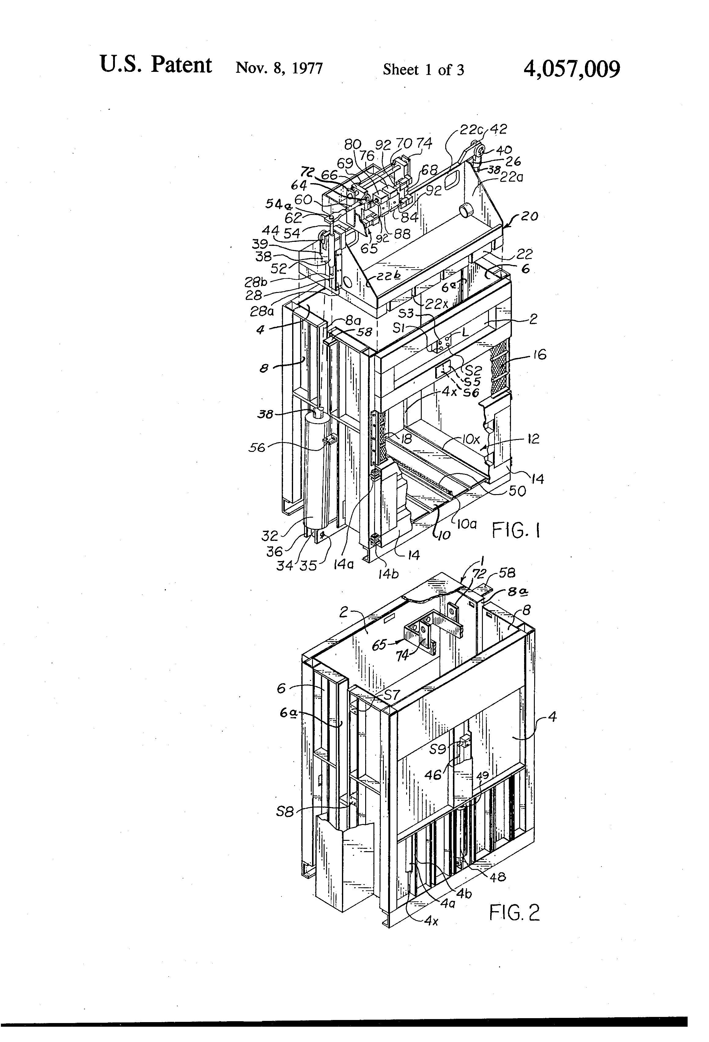 patent us4057009 downstroke baler google patents patent drawing