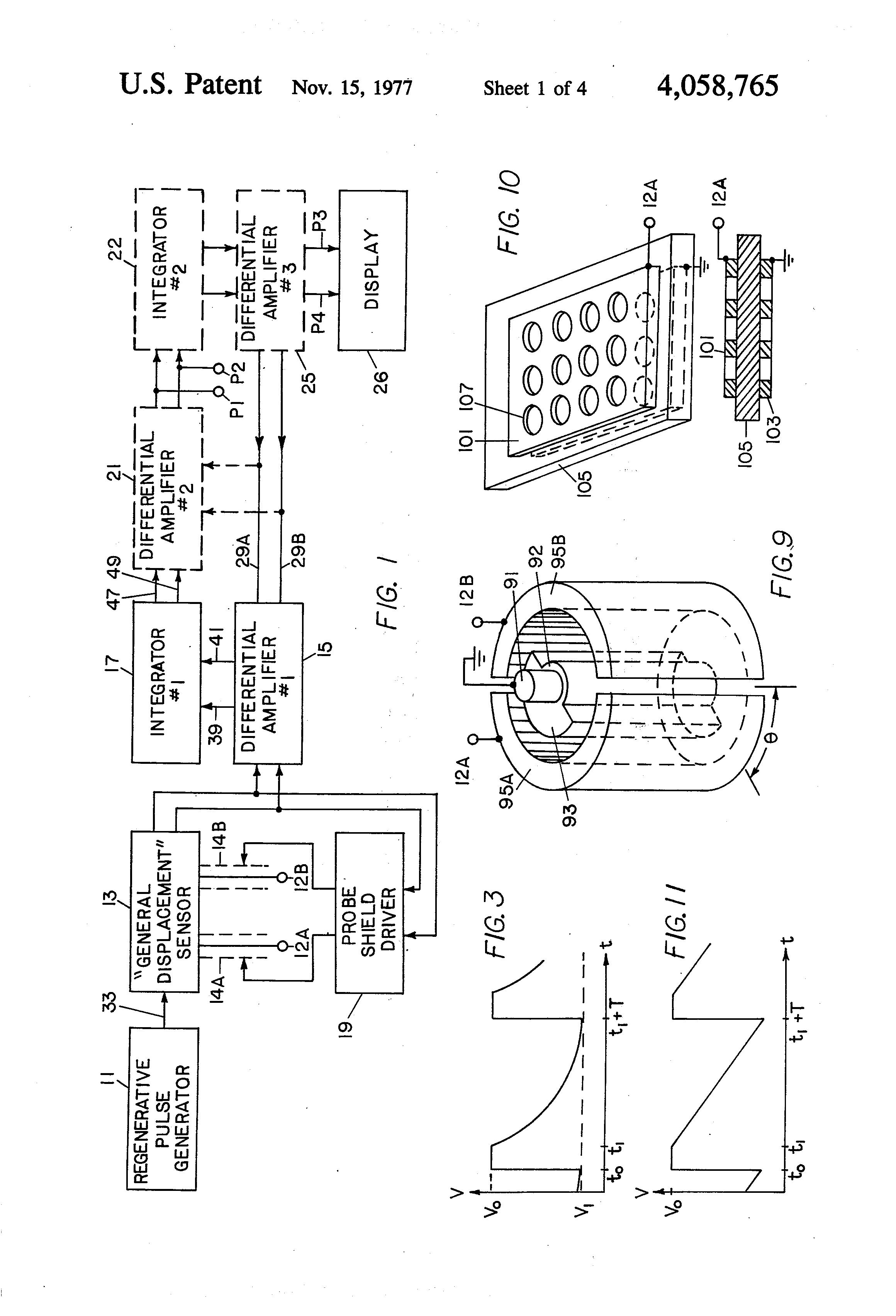 patent us4058765 - general displacement sensor