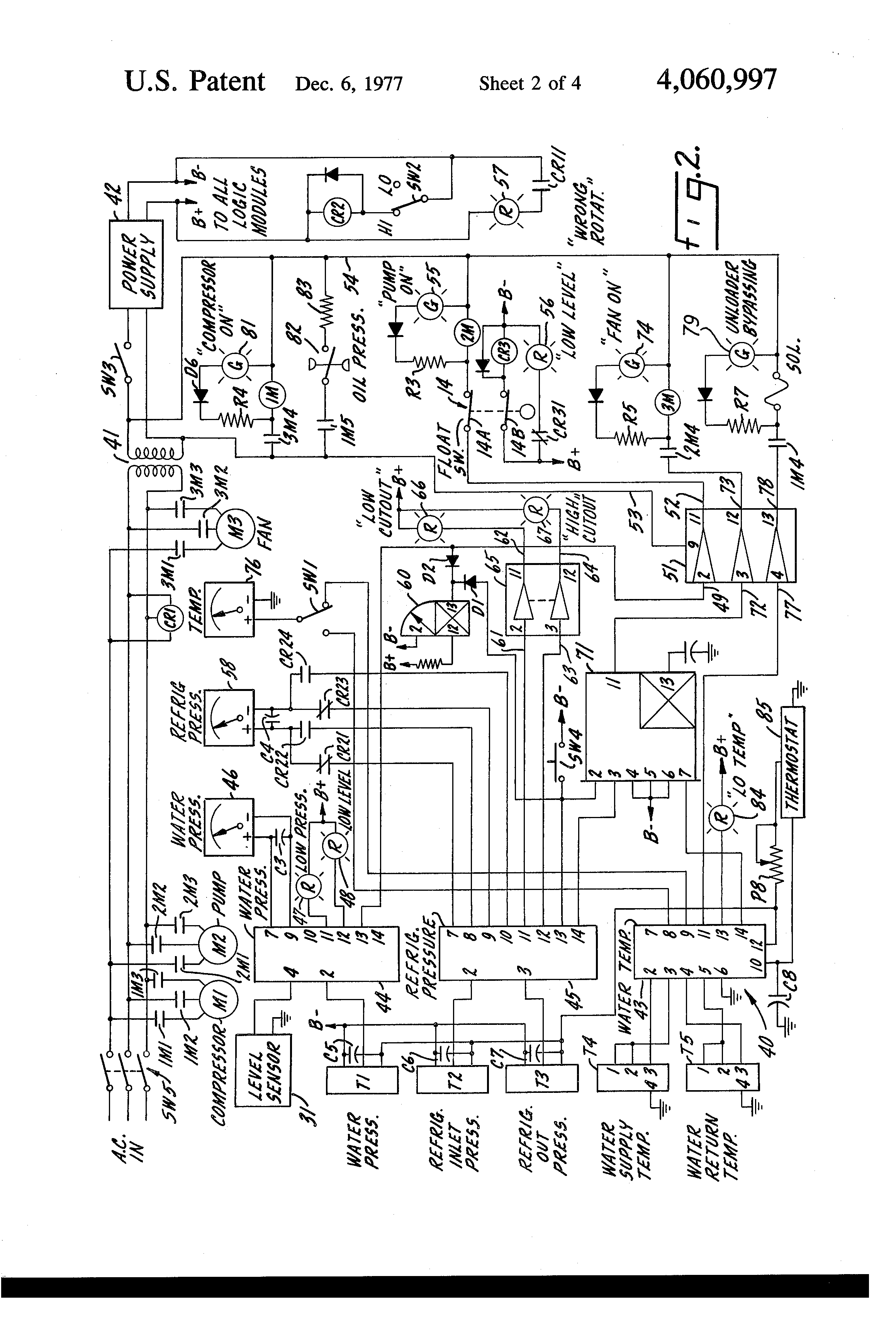 Patent Us4060997 - Water Chiller Control