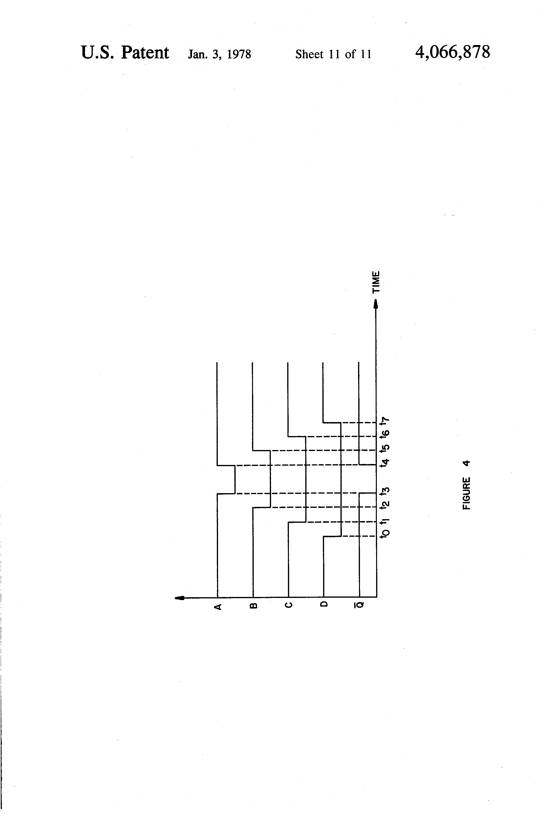 Patent Us4066878 Time Domain Filter For Recursive Type Signals Clock Pulse Generator With Cd4049 Drawing