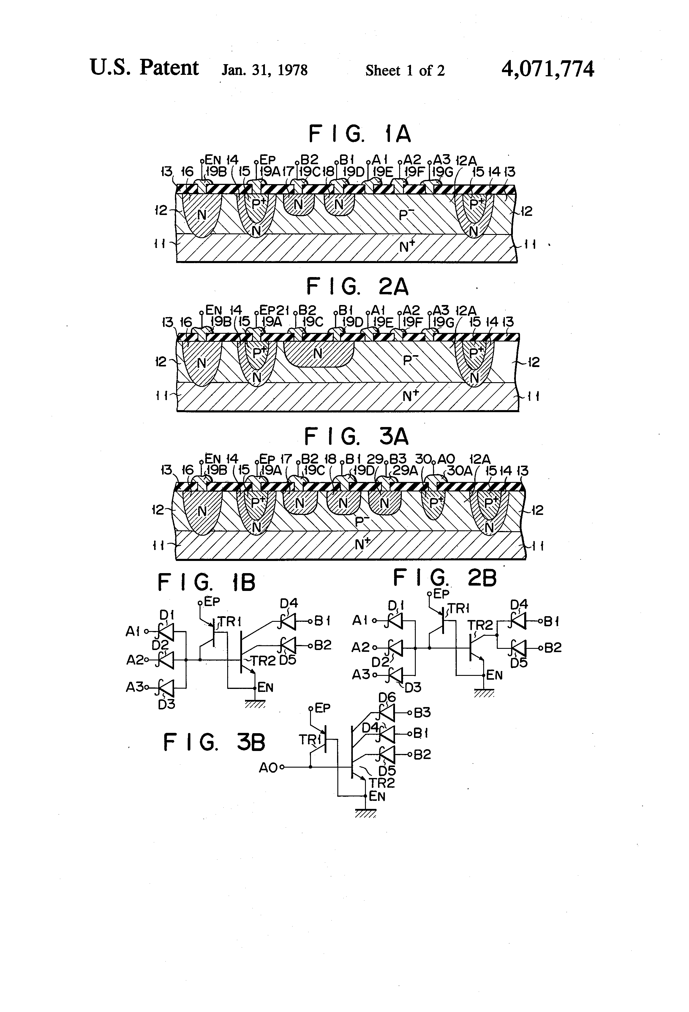 Patent Us4071774 Integrated Injection Logic With Both Fan In And This Is A Diode Transistor Dtl Nand Gate Circuit Using Bipolar Drawing