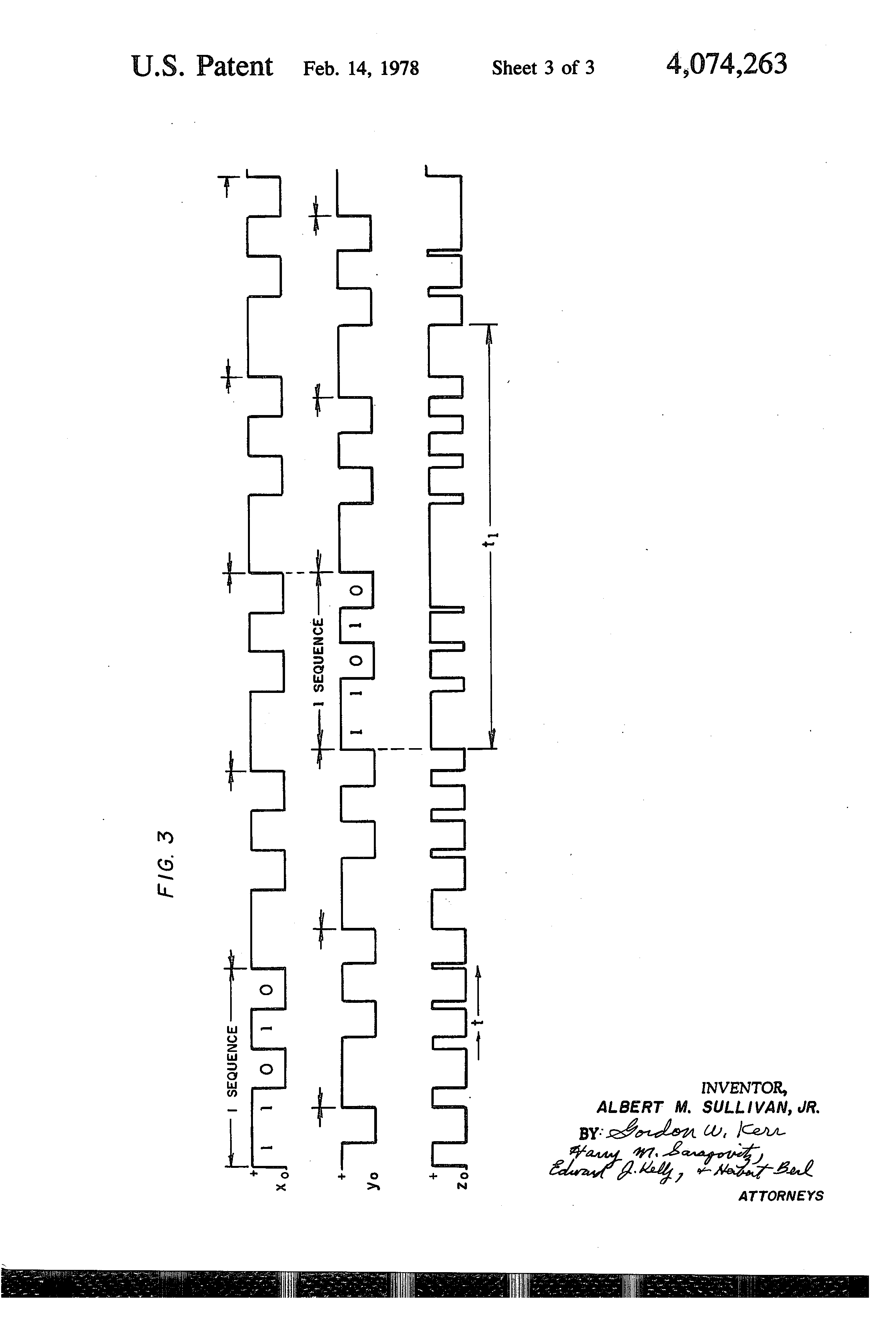 Patent Us4074263 Code Signal Processing Circuitry For Iff Sine Wave Generator Composed Of Inverter Signalprocessing Circuit Drawing