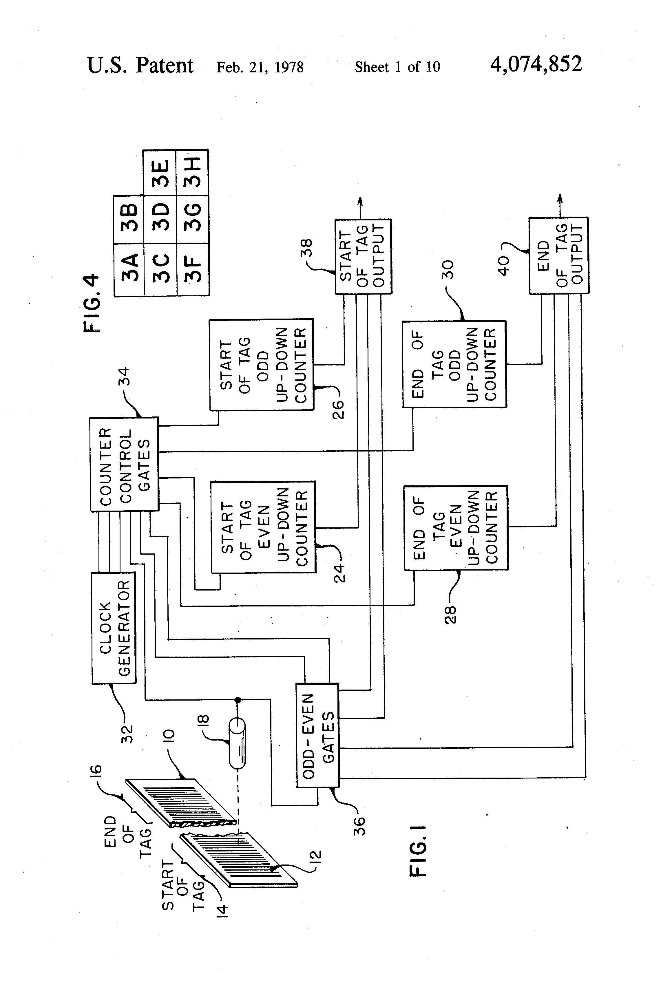 Patent Us4074852 Symbol Decoding Method And Means Google Patents Circuit Diagram For Up Counter Drawing