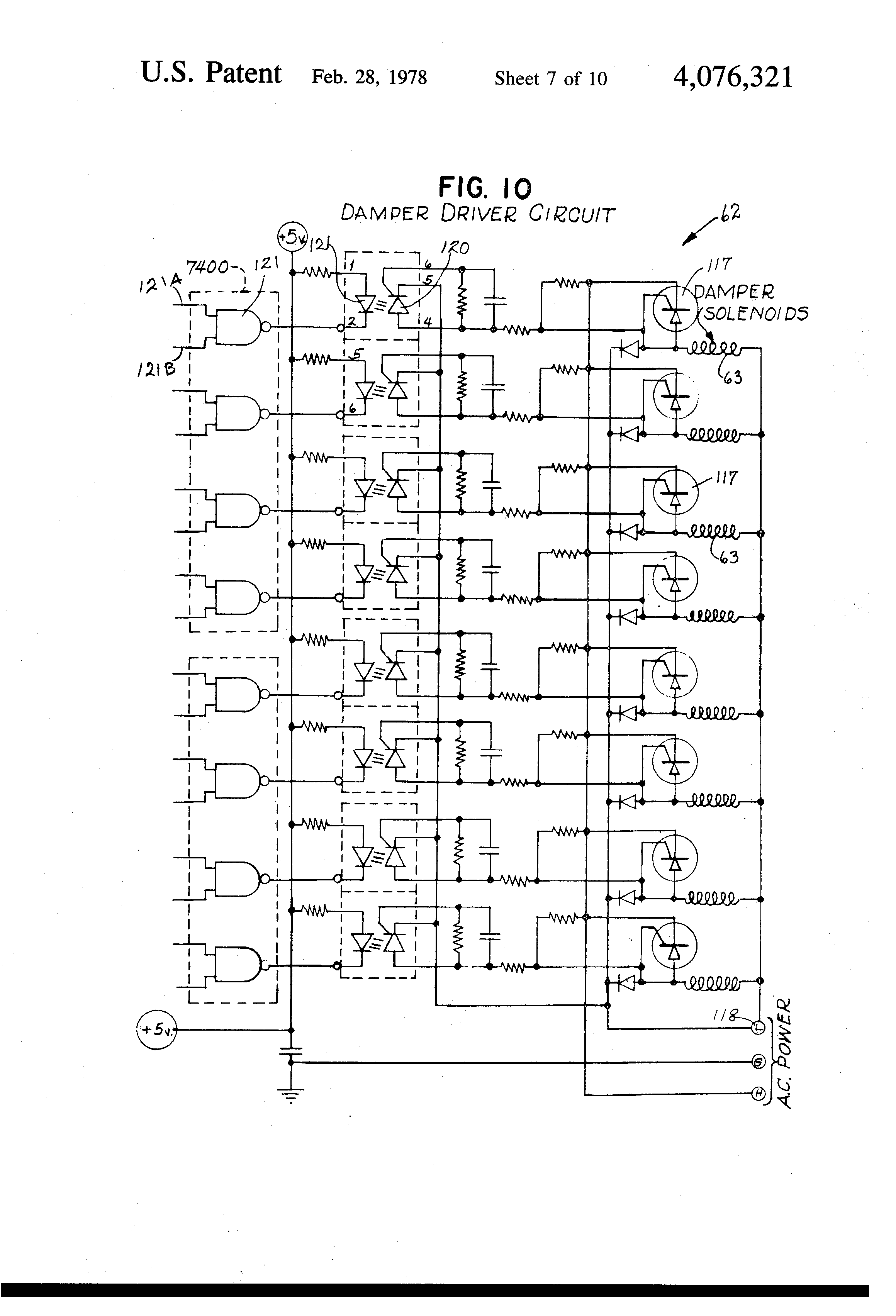 patent us4076321 electronic control system for operating a patent drawing