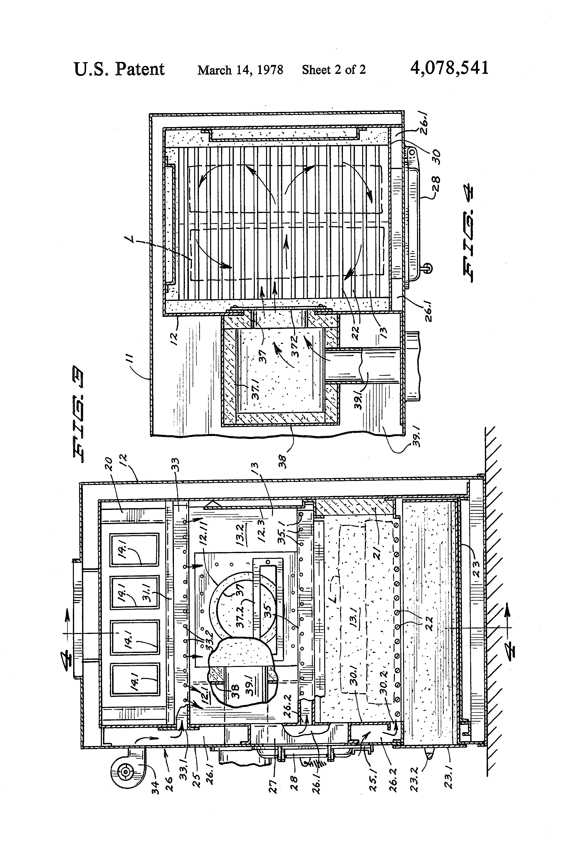 patent us4078541 - wood and oil burning furnace