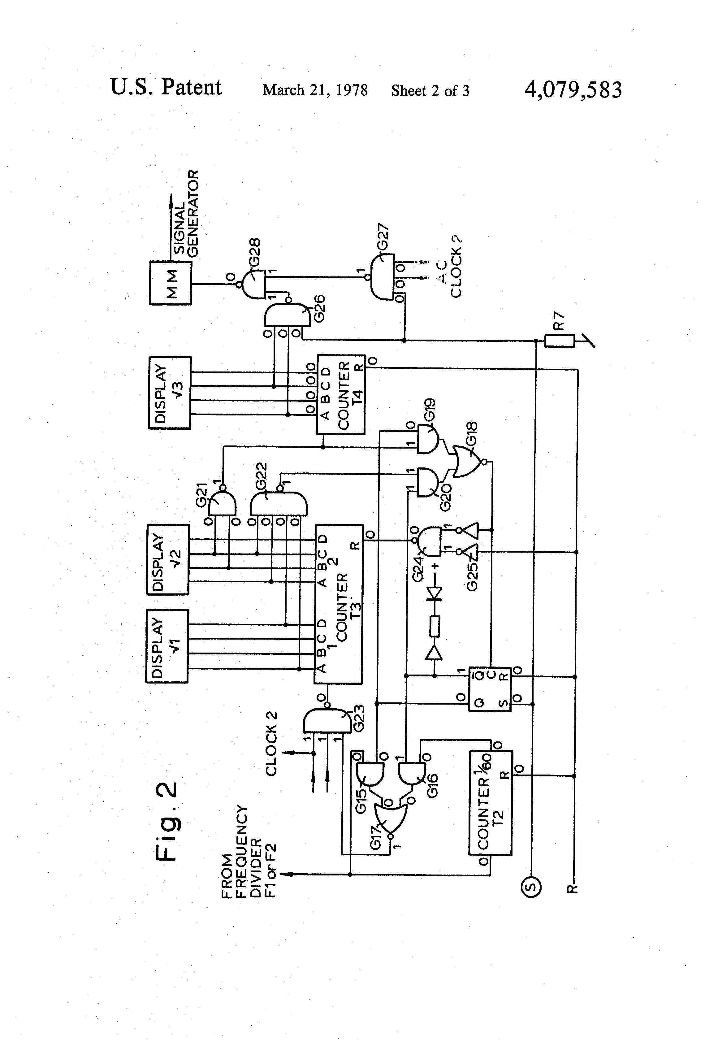 patent us4079583 - electrical chess clock