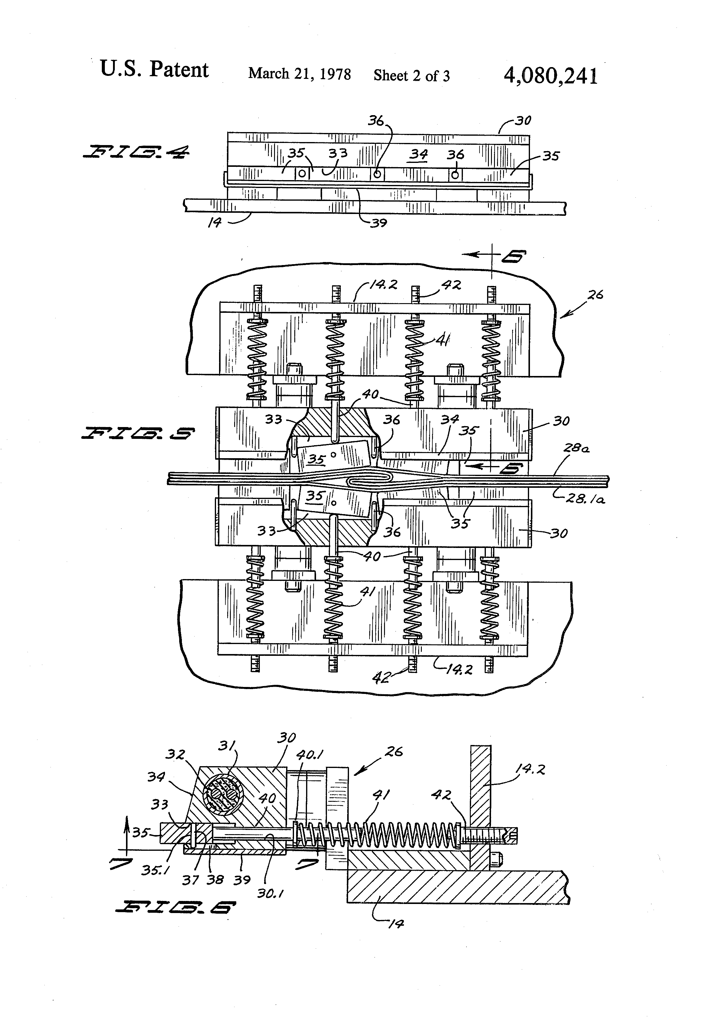 patent us4080241 - band sealer for closing bags