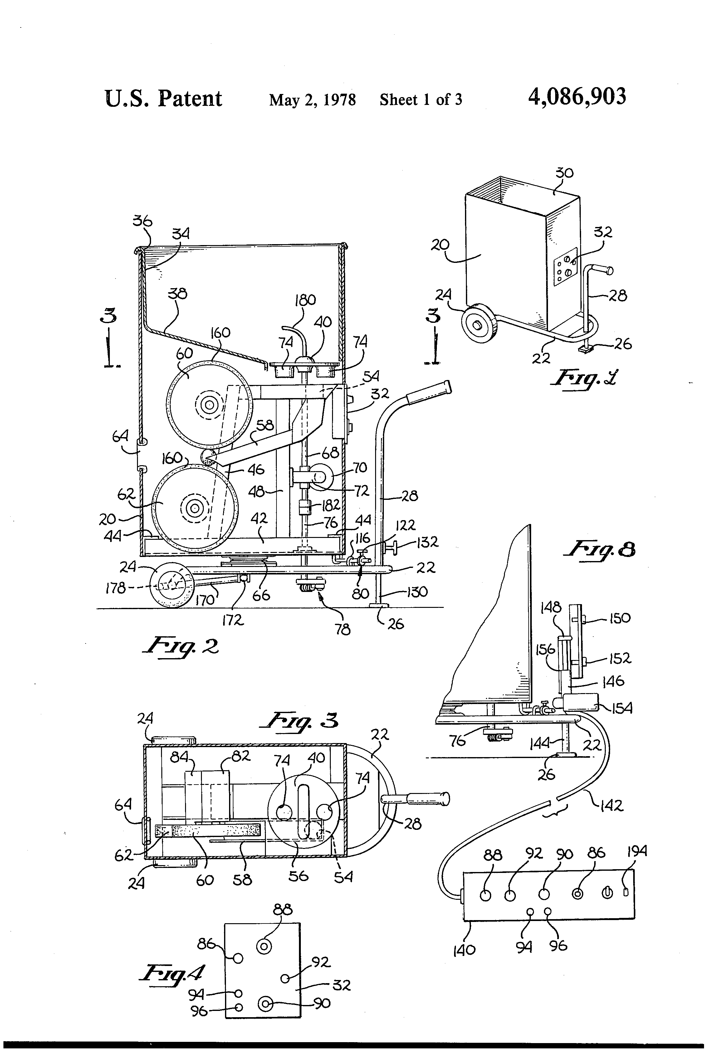 Patent Us4086903 Tennis Ball Throwing Machine Google