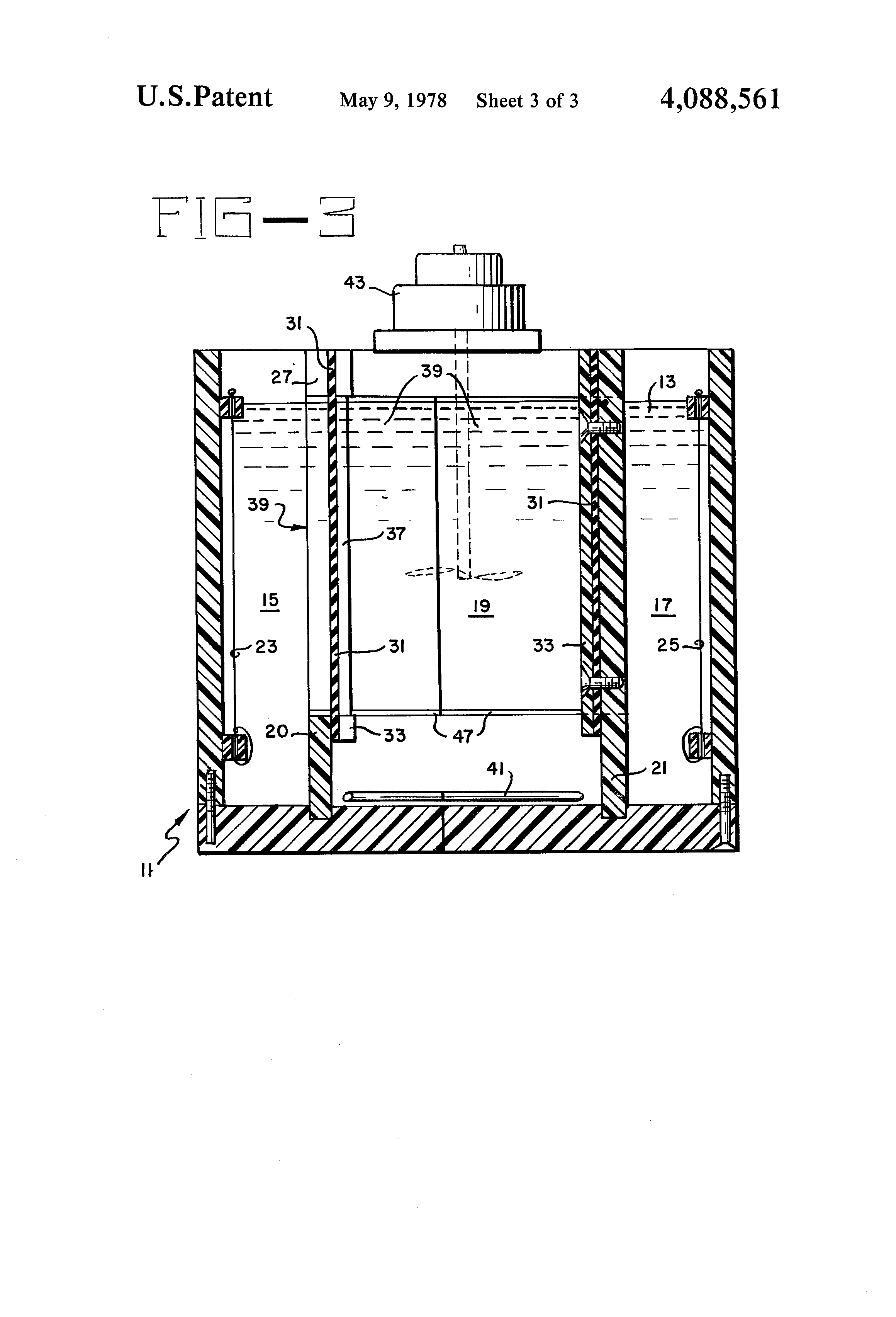 patent us4088561 - apparatus for electrophoresis separation