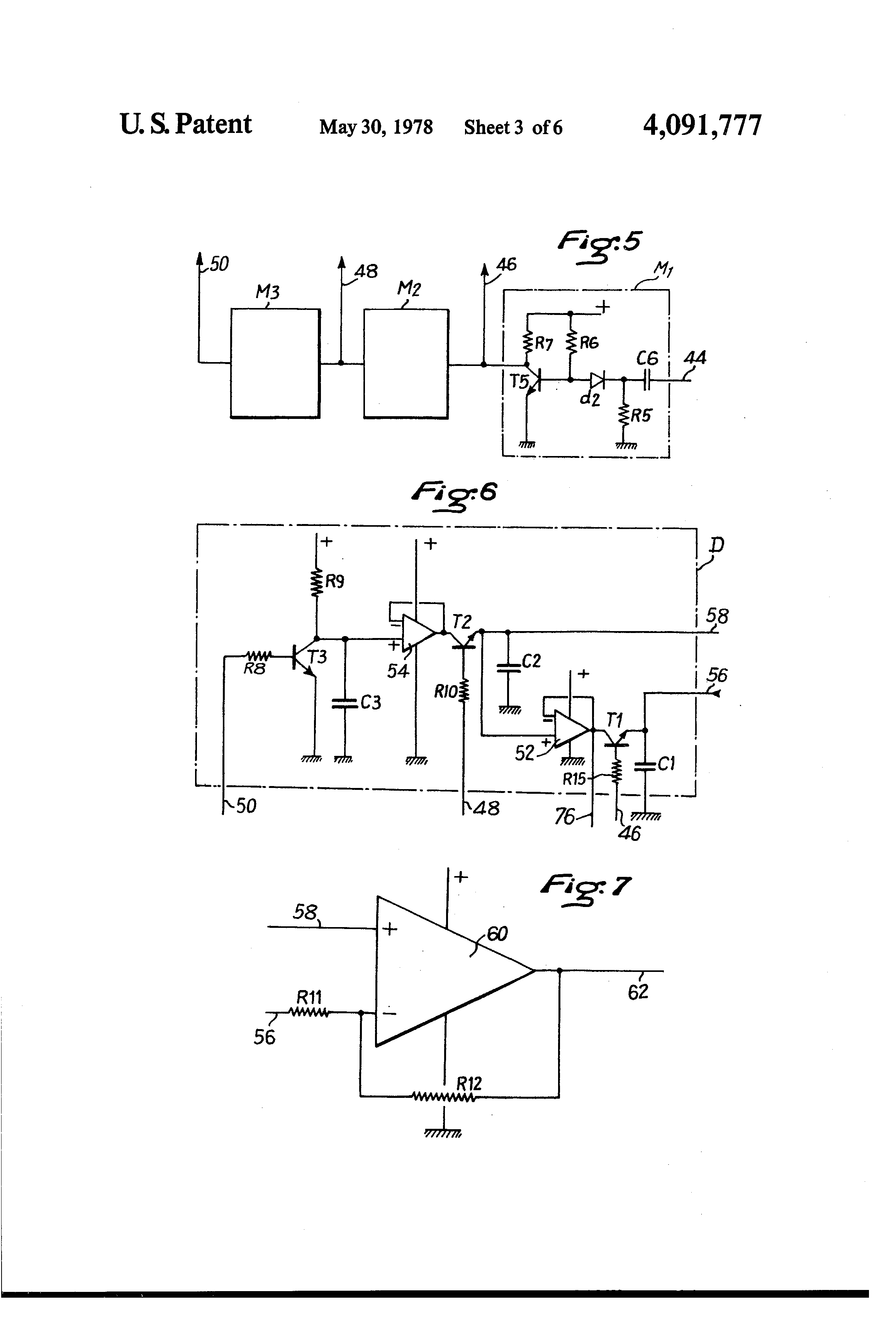 Patent Us4091777 Electronic Control Circuit For A Carburetor Generators Network D1 R1 D2 R2 P3 Makes It Possible To Give Integrator Drawing