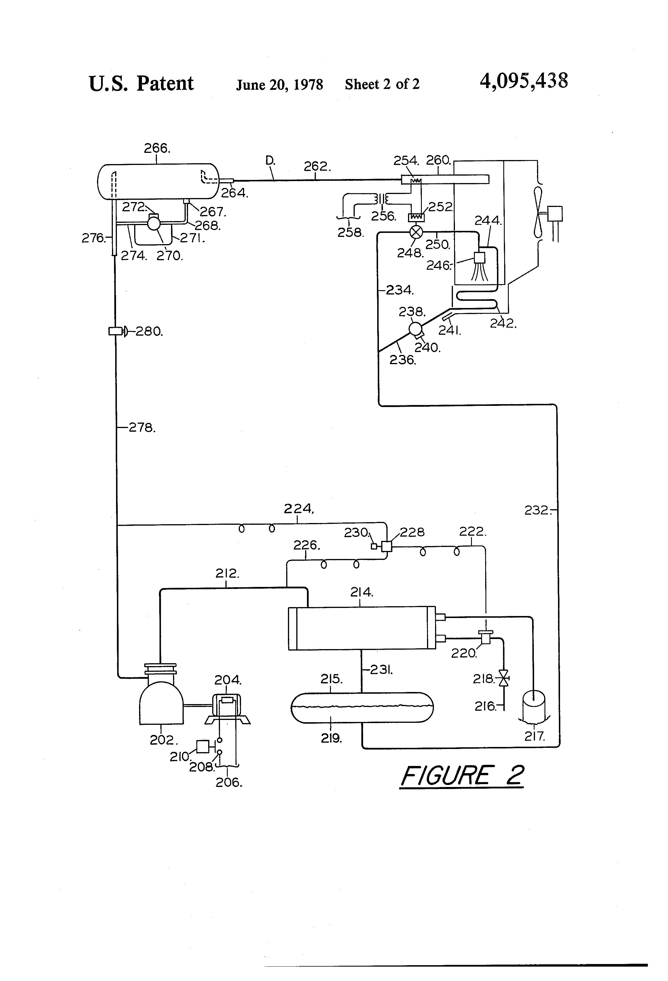 patent us4095438 refrigeration system hot gas defrost patent drawing
