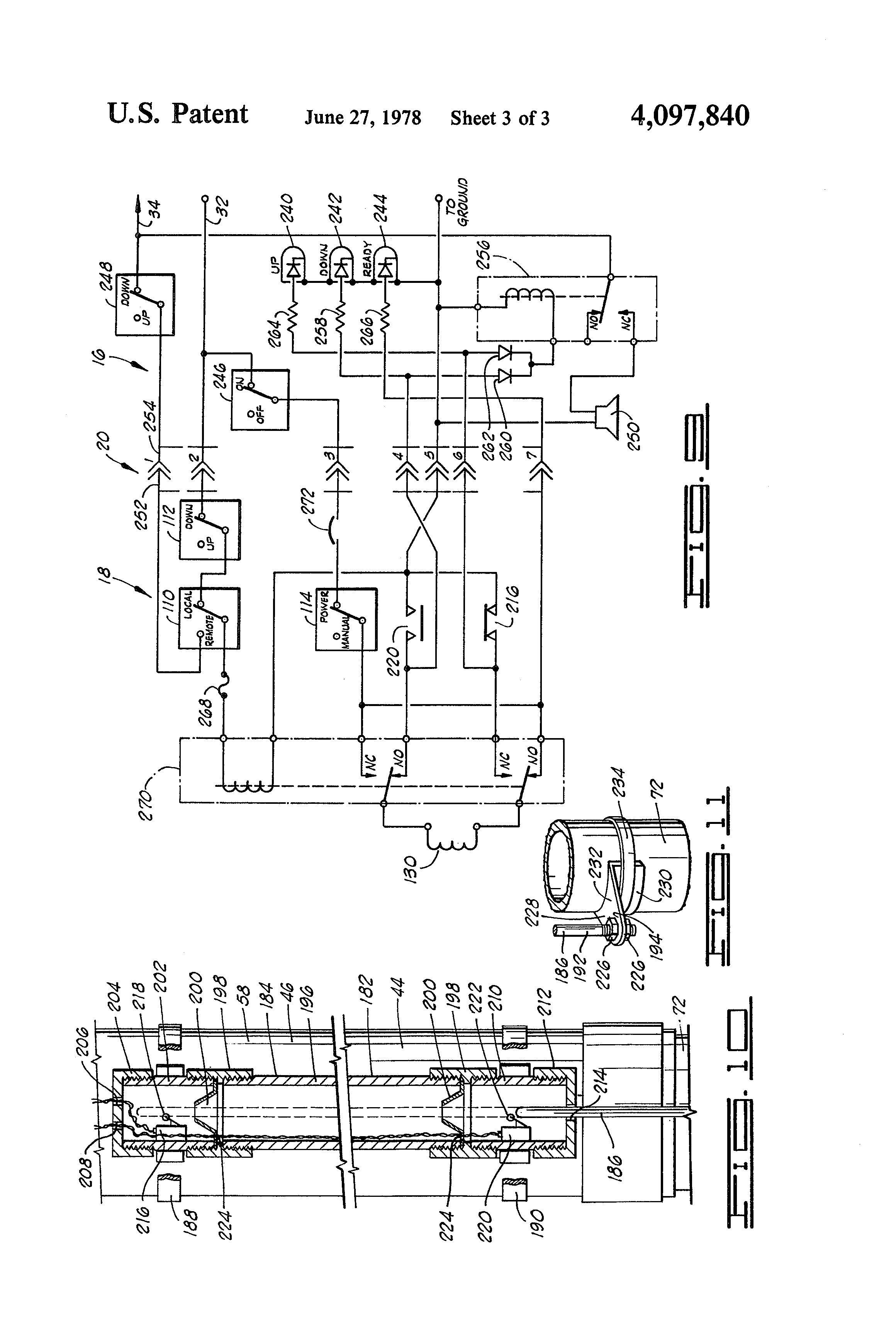 US4097840 3 patent us4097840 automatic semi trailer landing gear extension wiring diagram for 5th wheel landing gear at bakdesigns.co