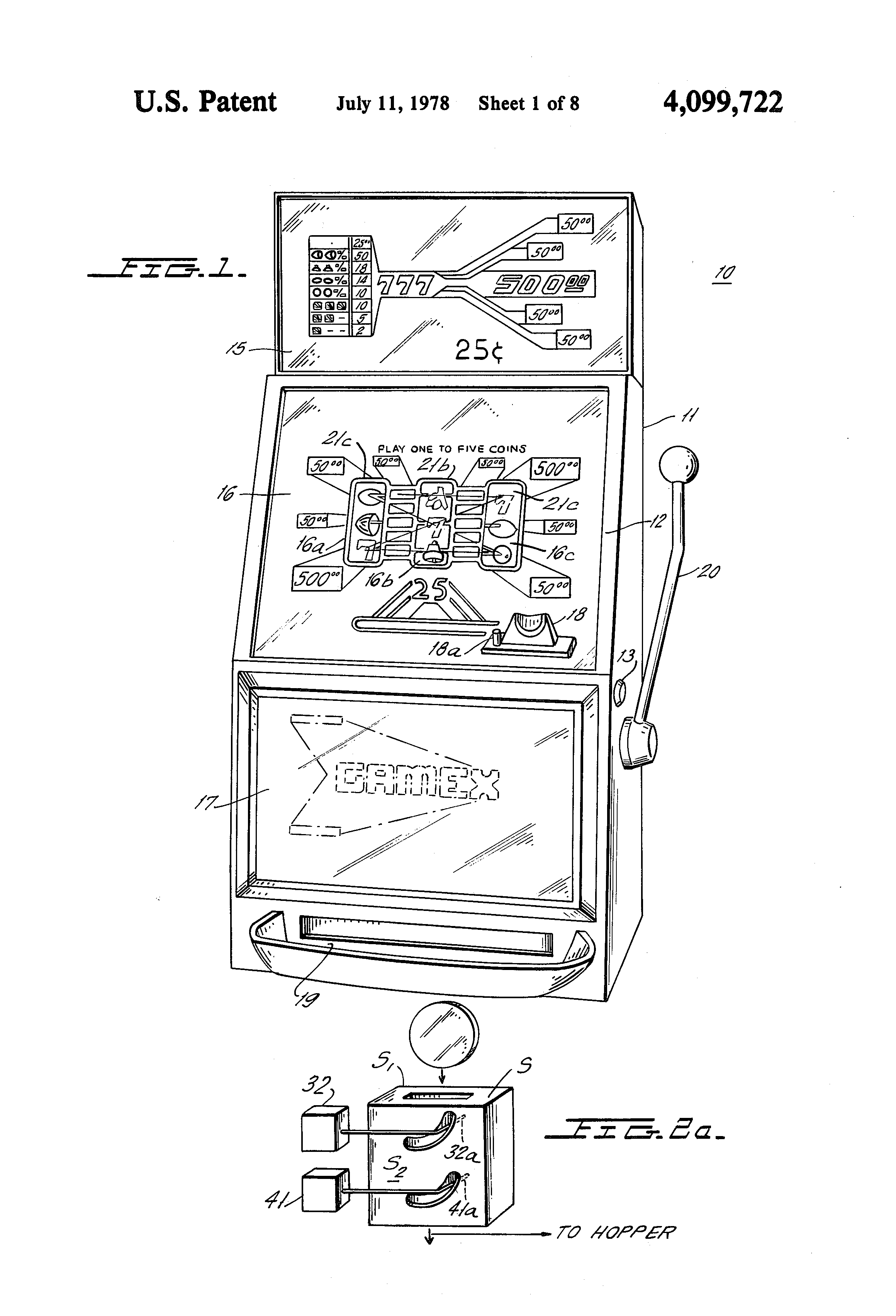 patent us4099722 electronic slot machine google patents