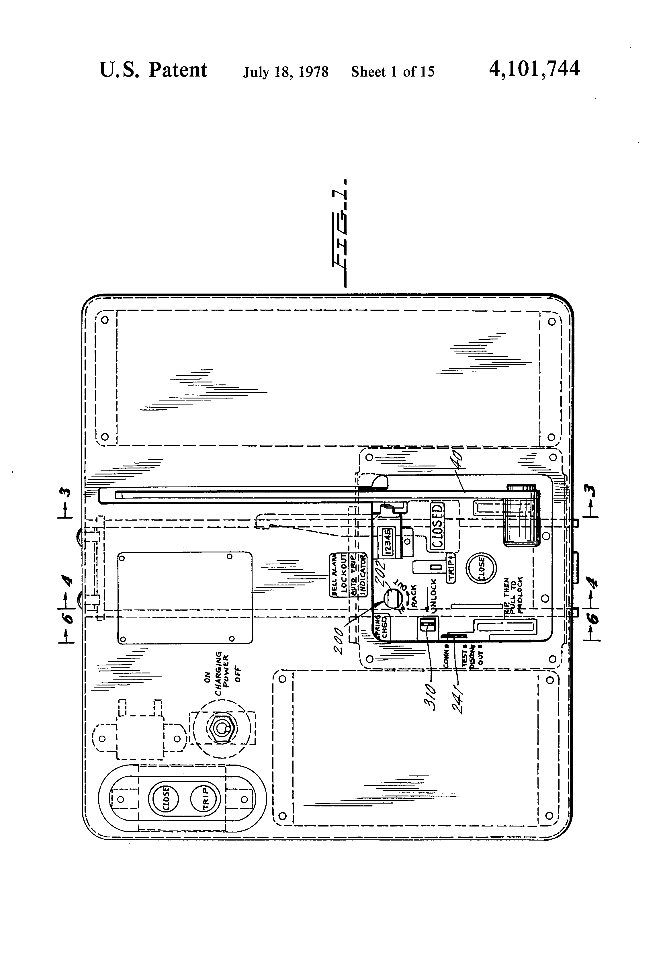 Patent us4101744 circuit breaker racking mechanism for drawout patent drawing robcynllc Image collections