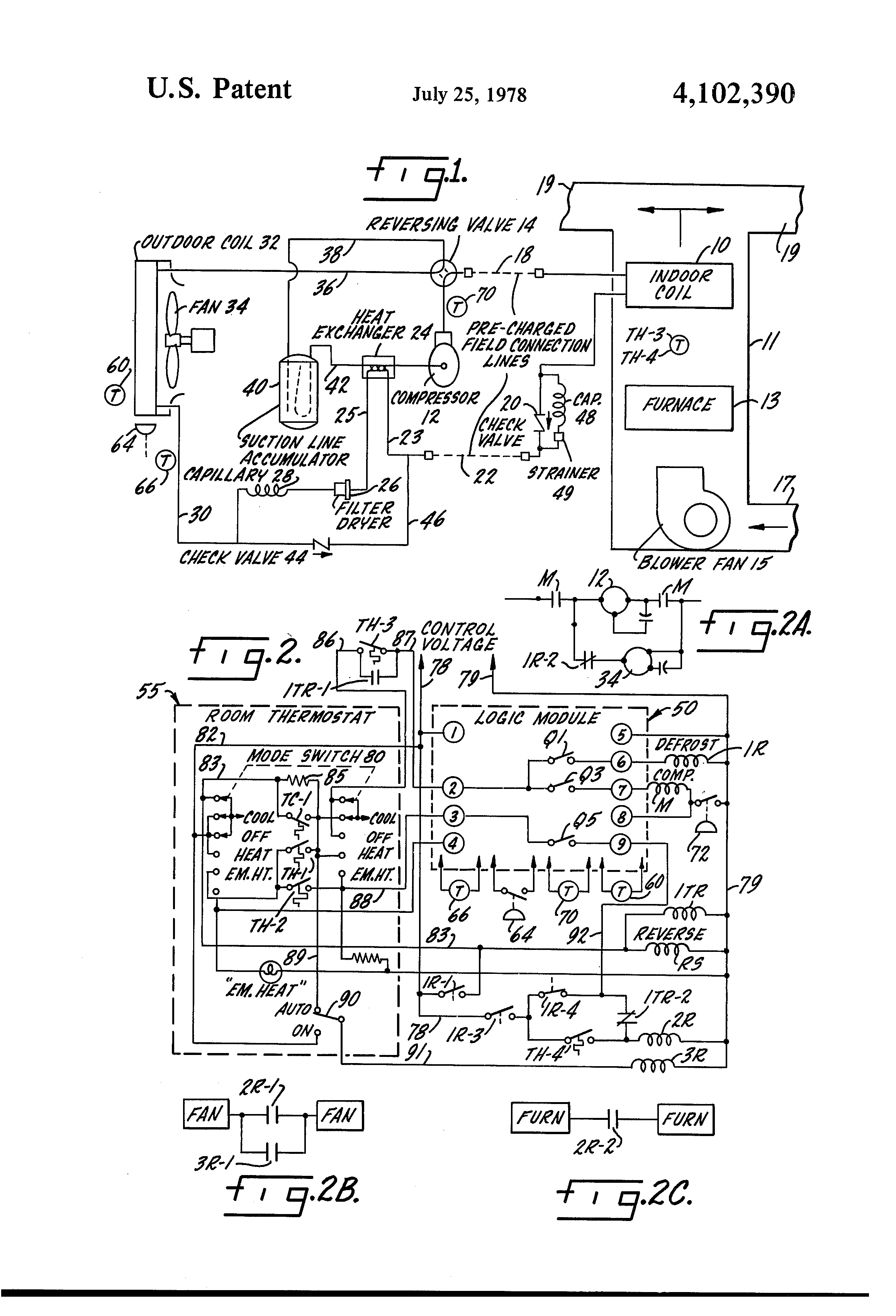 US4102390 1 patent us4102390 control system for heat pump and furnace russell evaporator wiring diagram at creativeand.co