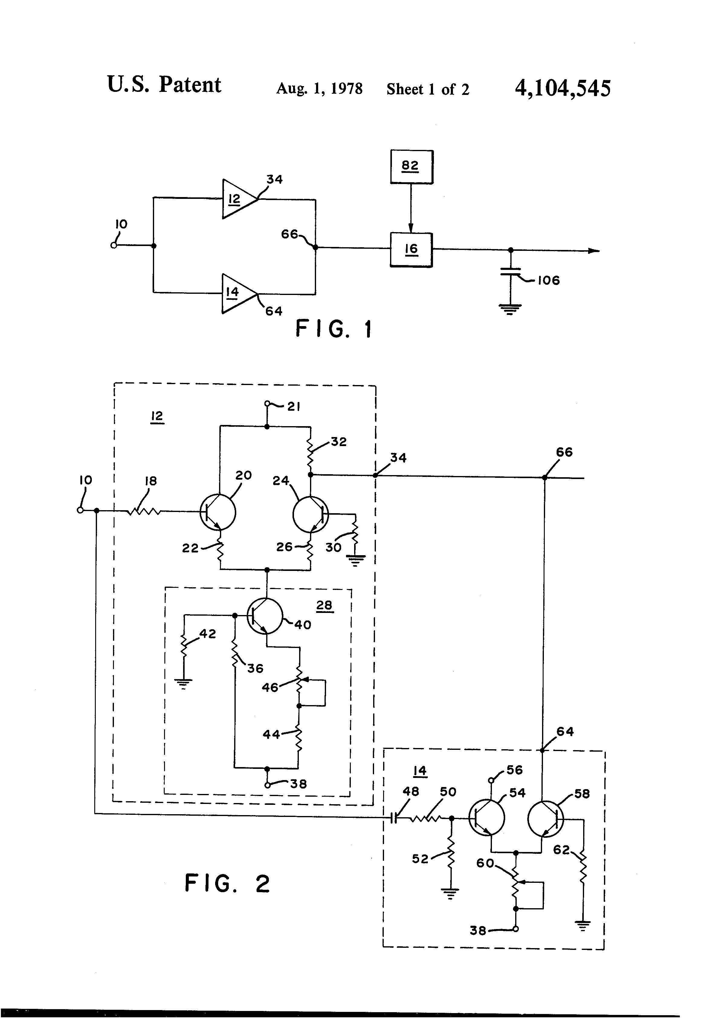 Patent Us4104545 Pulse Peak Detector Circuit Google Patents Drawing