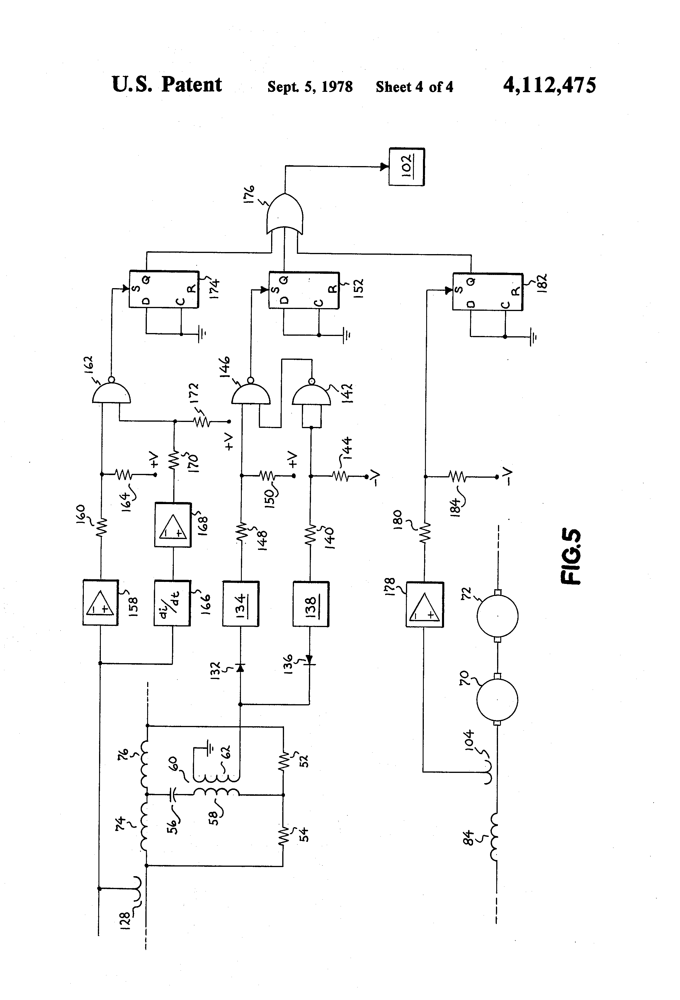 Patent Us4112475 D C Motor Flashover Protection Google Patents Ac Speed Control Circuit Reversing Polarity Dc Drawing