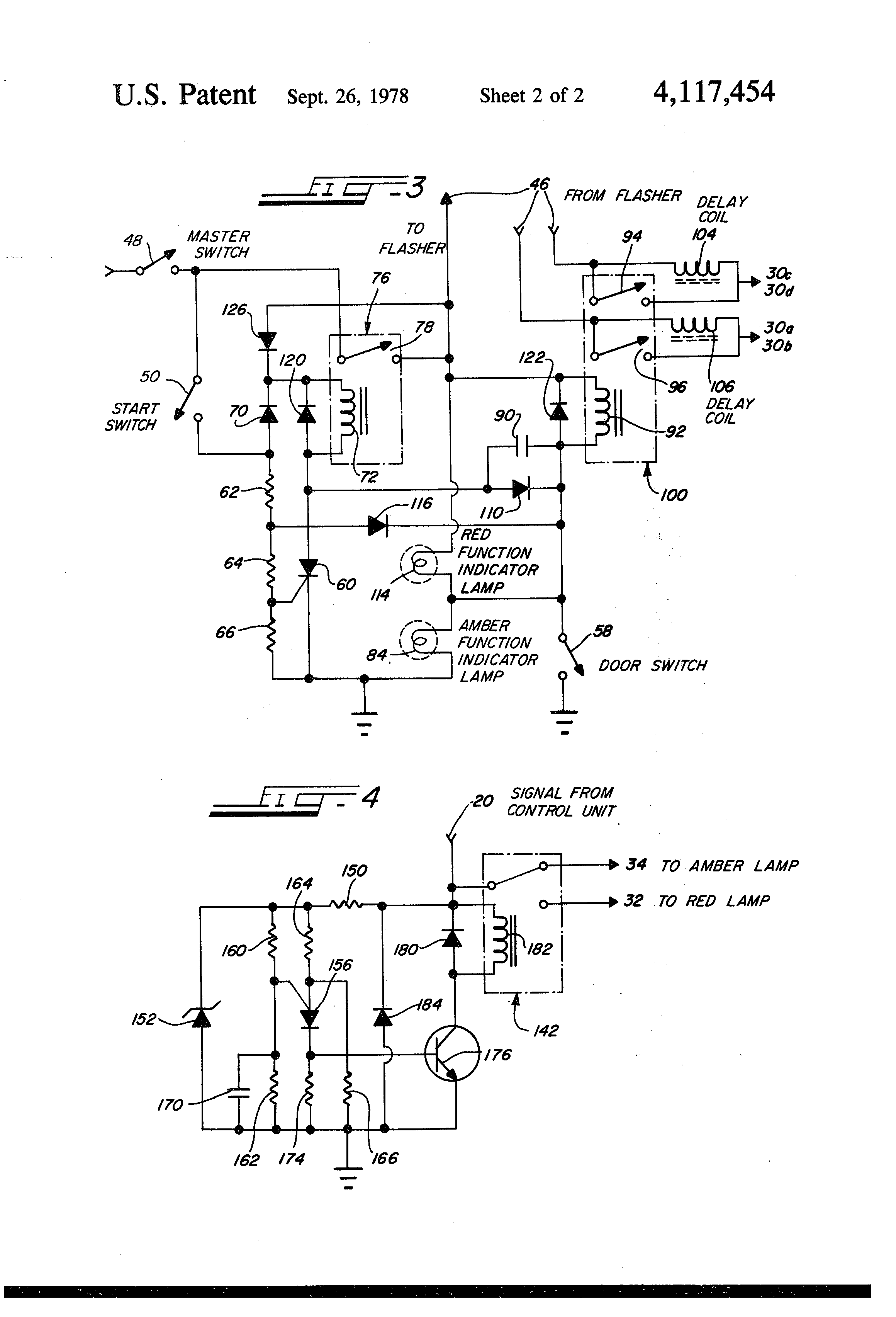 patent us4117454 strobe light system for school buses patents