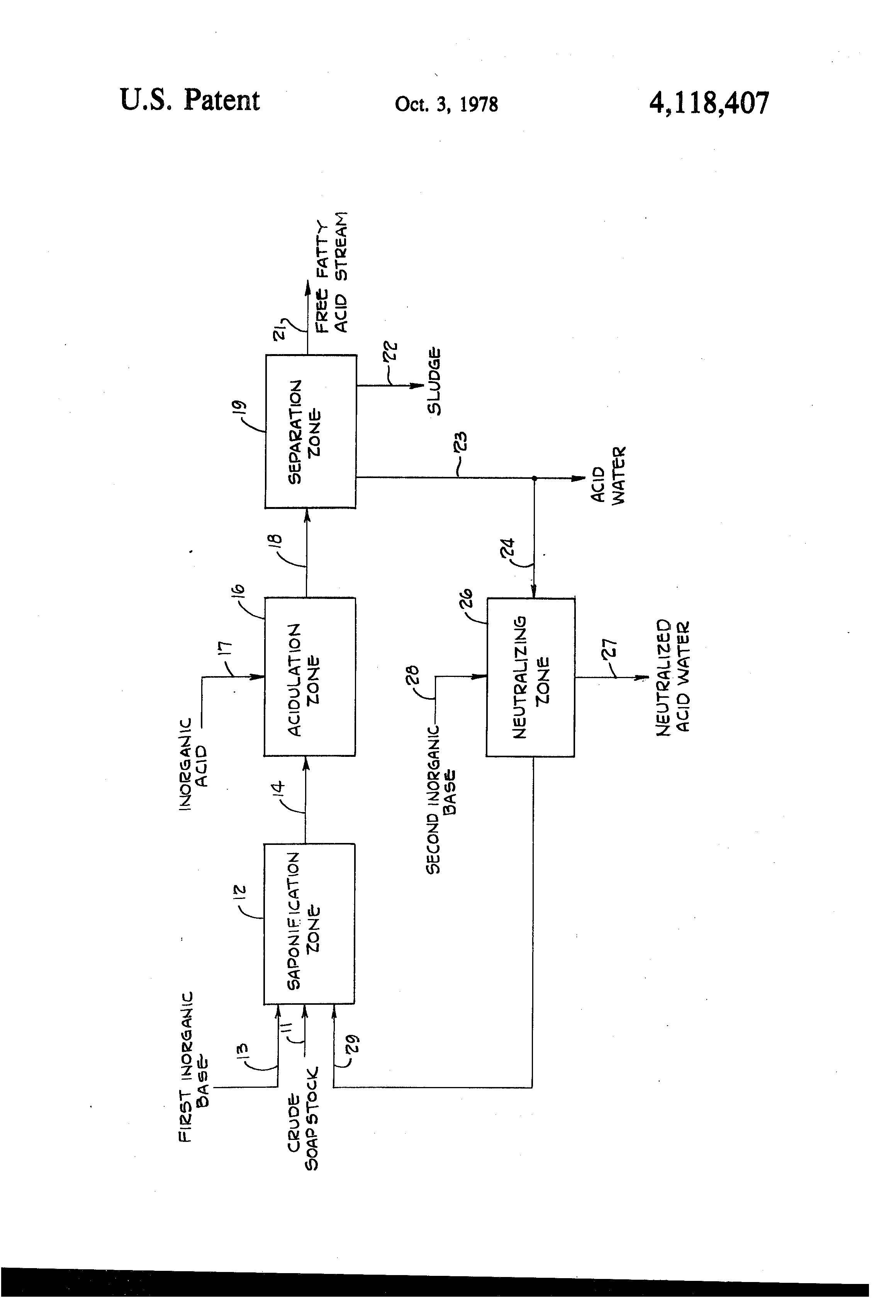patent us fatty acid recovery from soapstock patents patent drawing