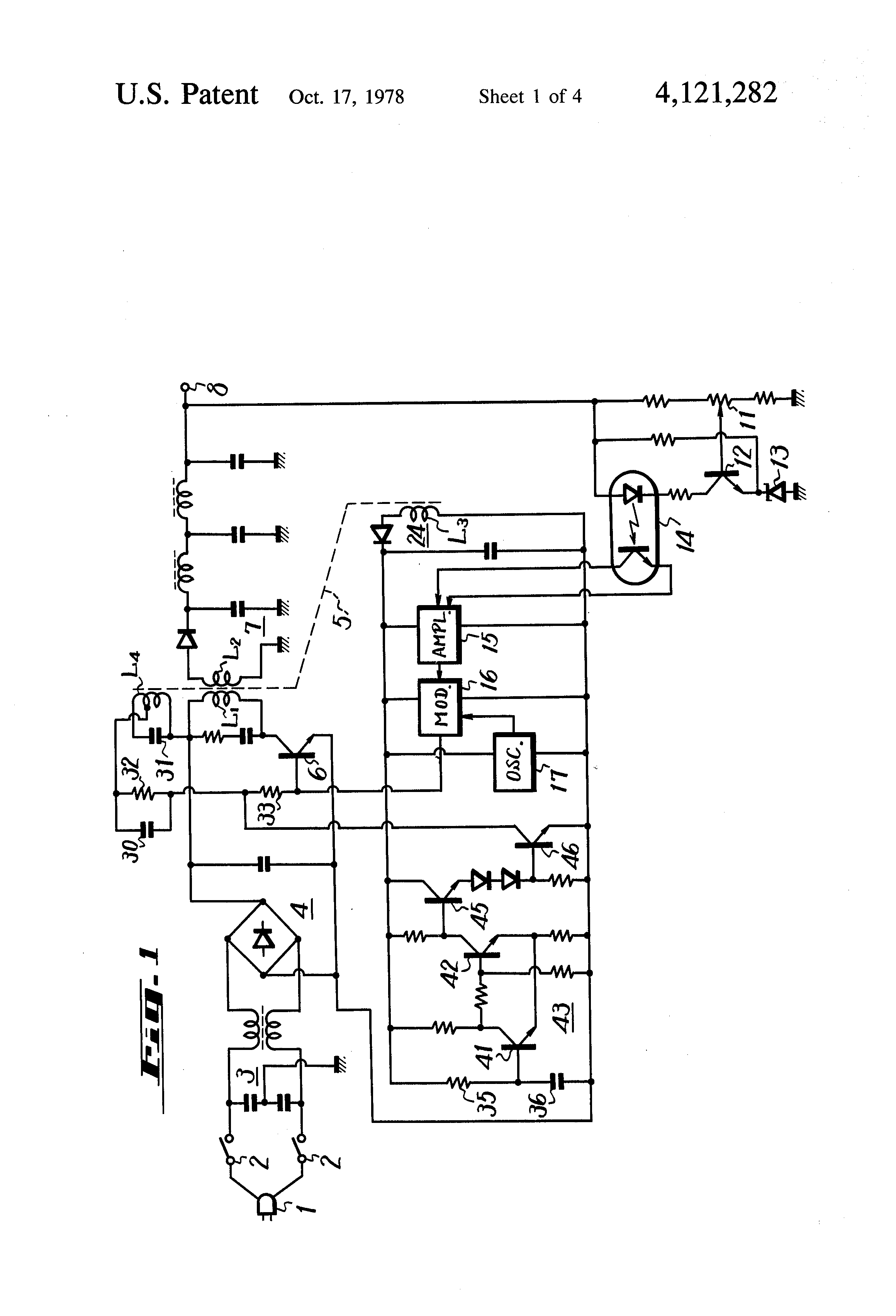 Patent Us4121282 Power Supply Circuit Google Patents Rechargeable Battery Charger Diagram Powersupplycircuit Drawing