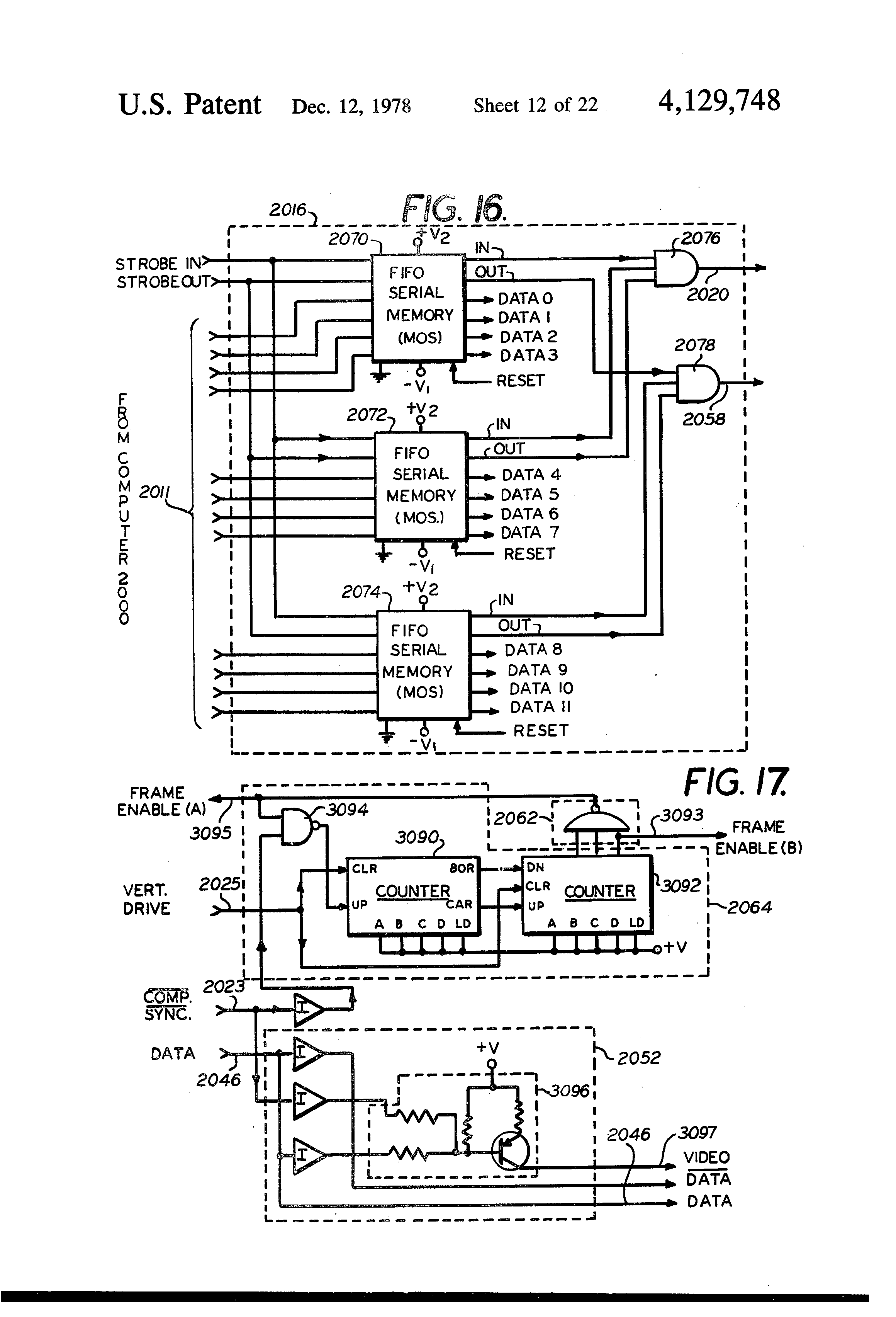 Patent Us4129748 Phase Locked Loop For Providing Continuous Clock Data Sync Engineering Schematics Drawing