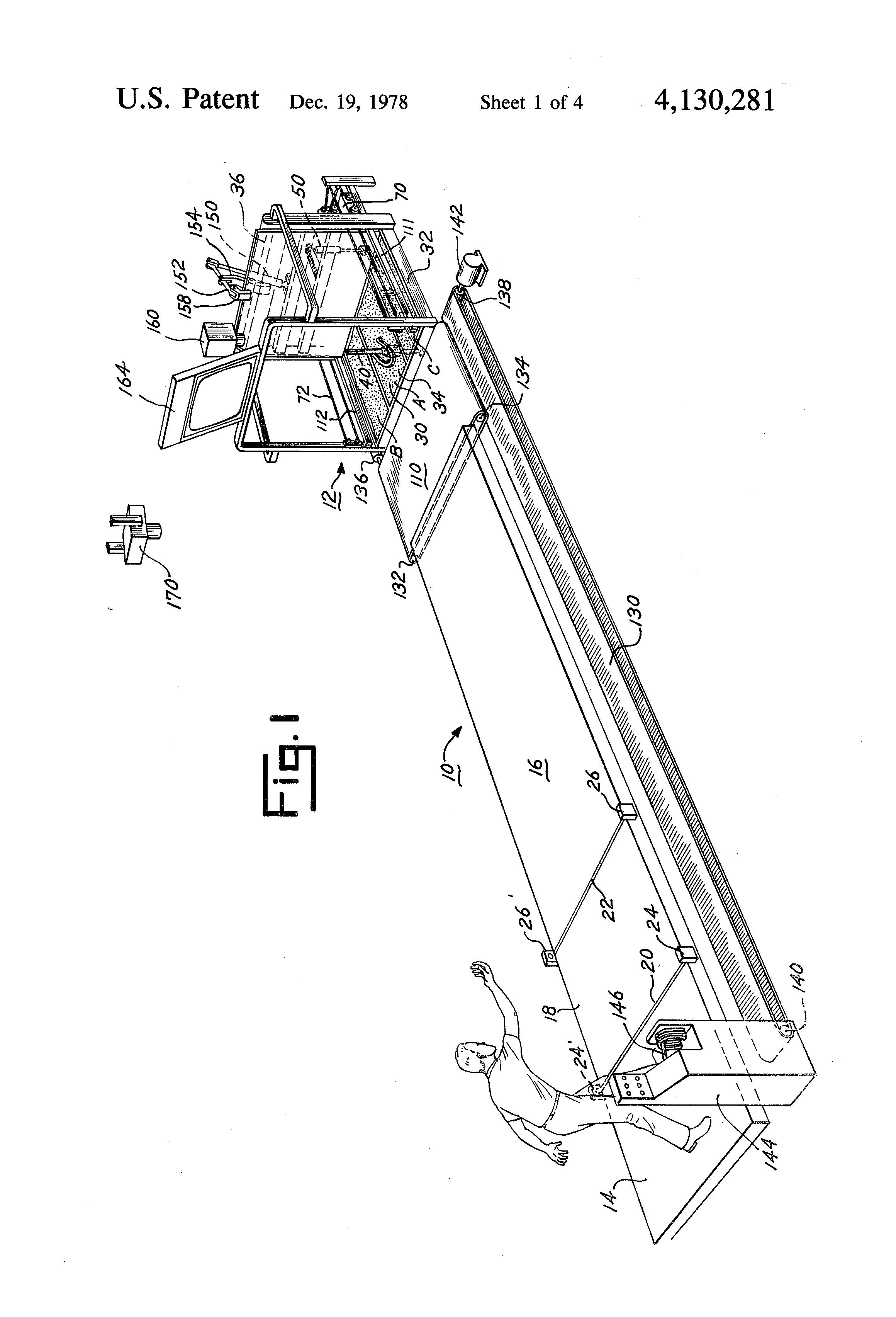 patent us4130281 - horseshoe pitching game apparatus