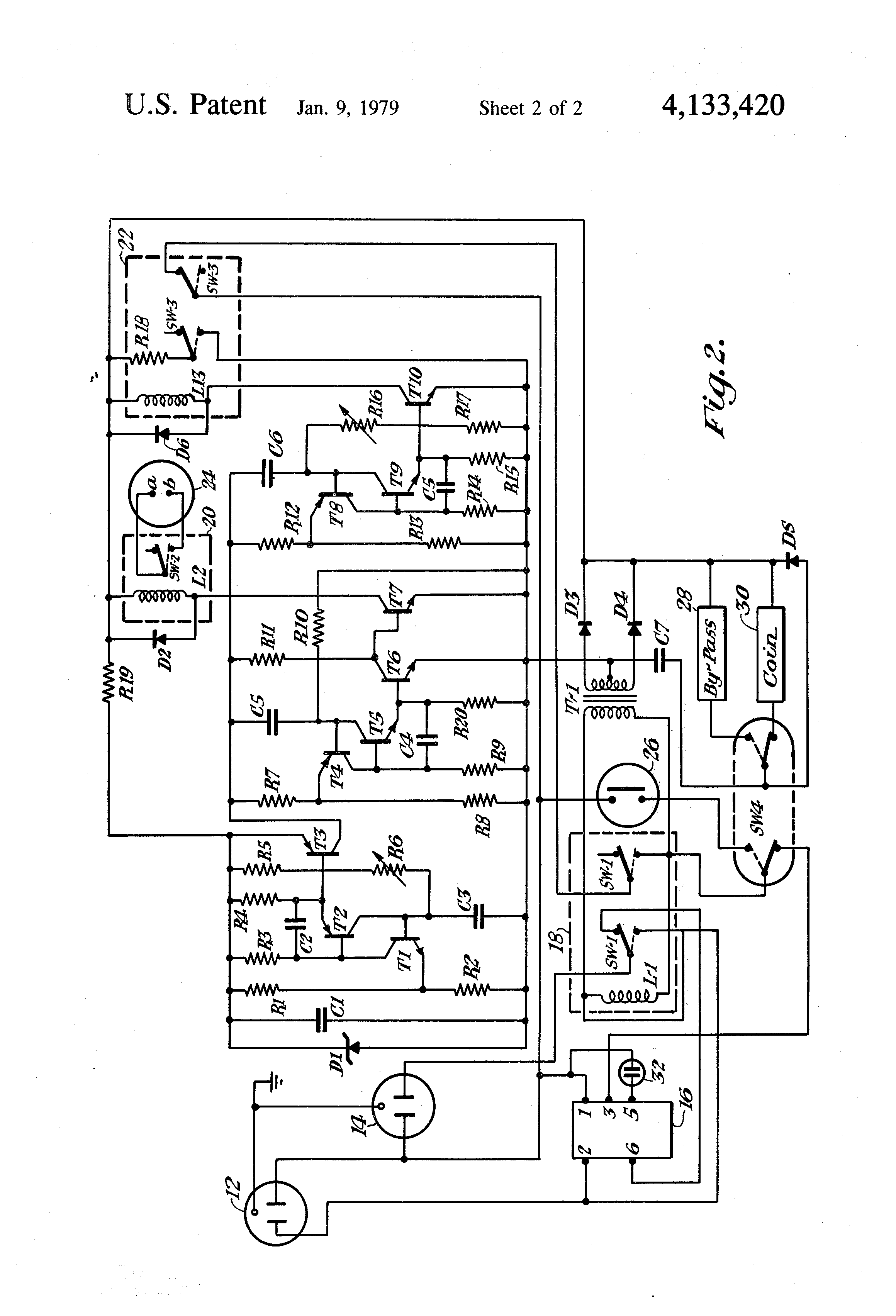 manual line drawing electrical receptacle