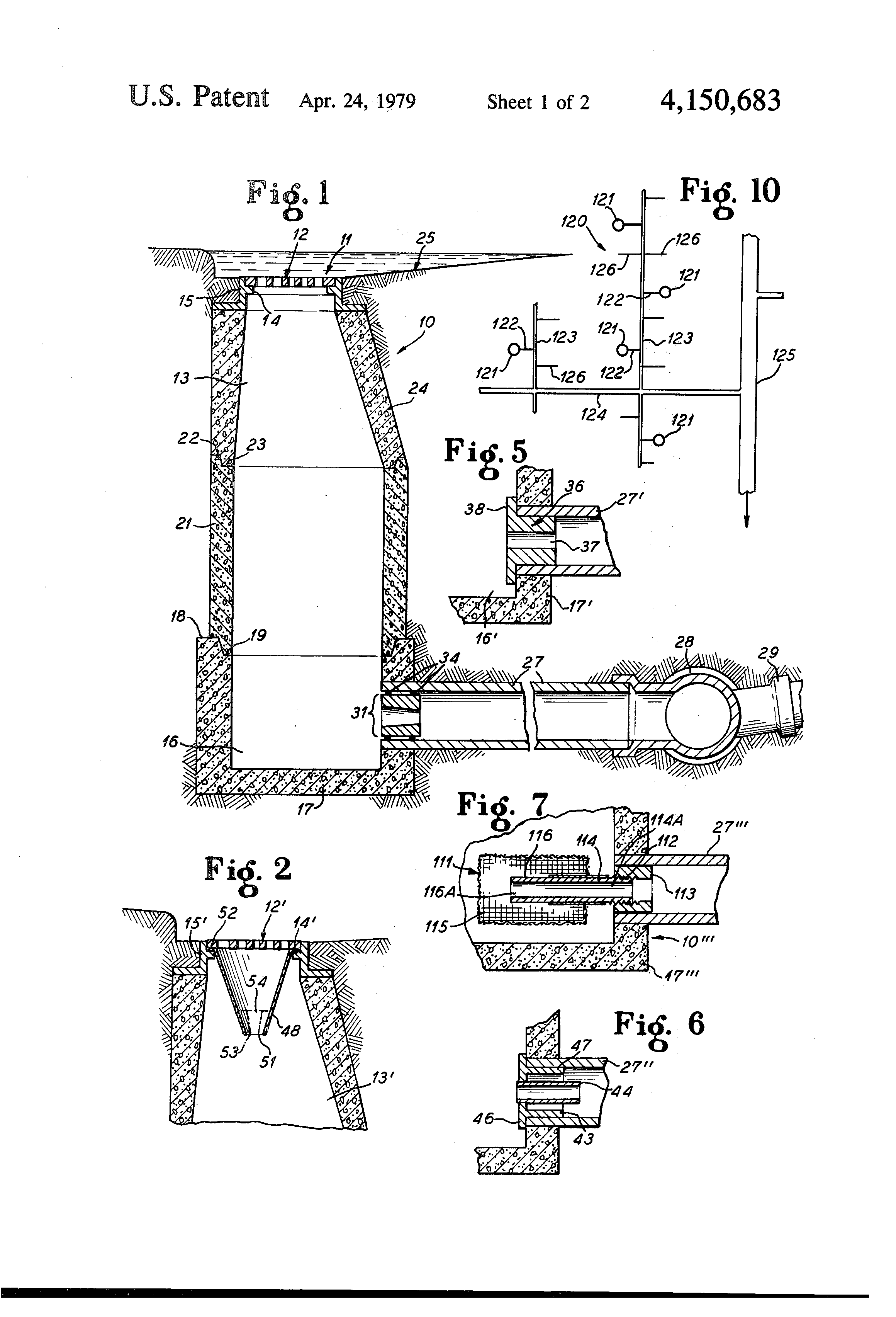patent us4150683 - elimination of overflow of sewer systems