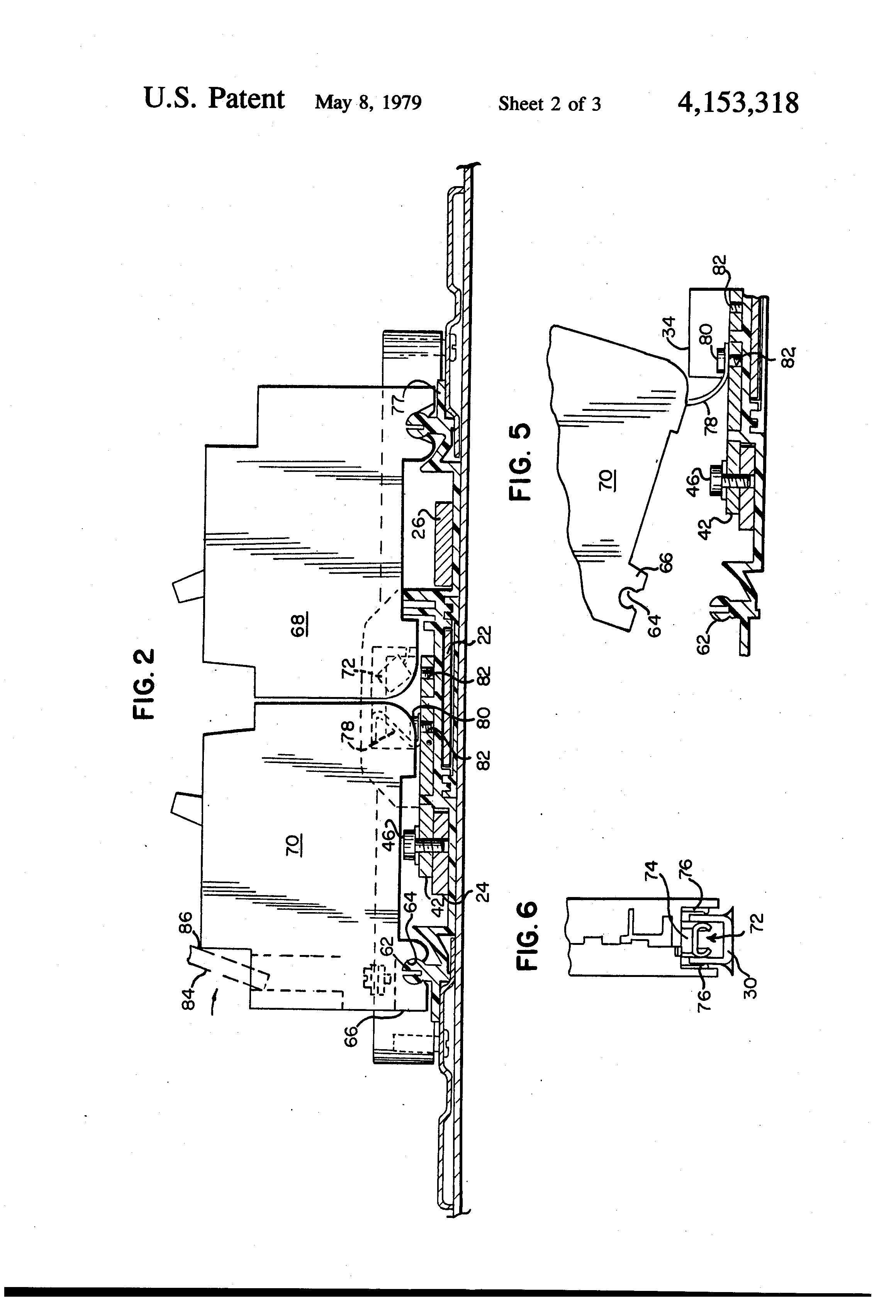 patent us4153318 - bus stab for panelboard assembly