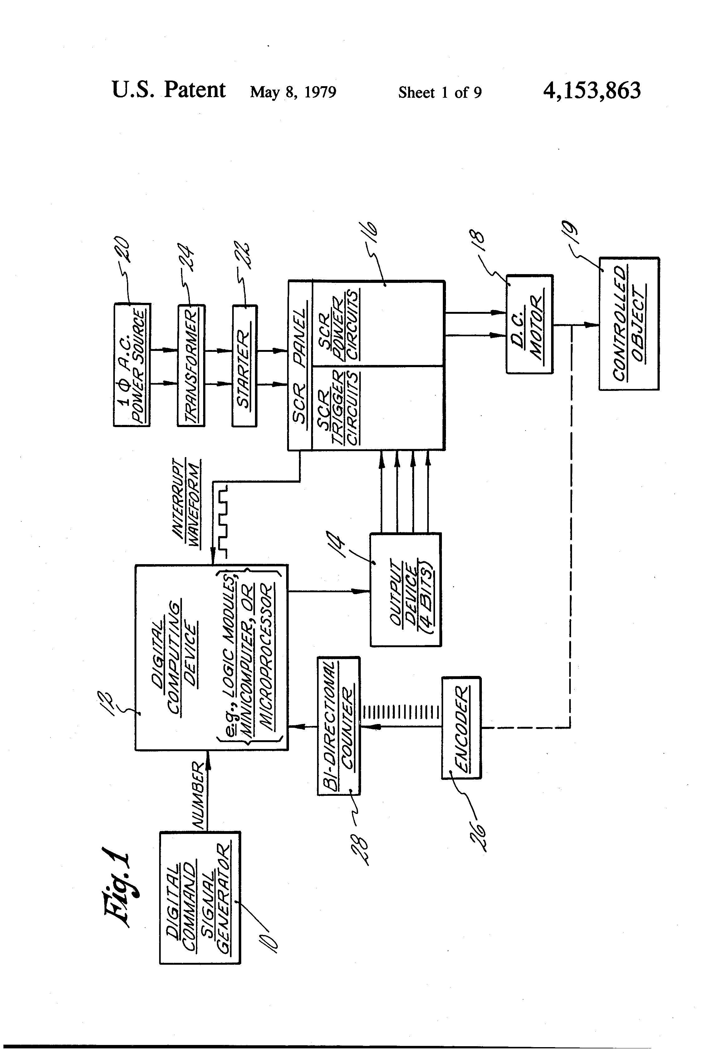 Patent Us4153863 Dc Motor Controller Google Patents Diagram Image Drawing
