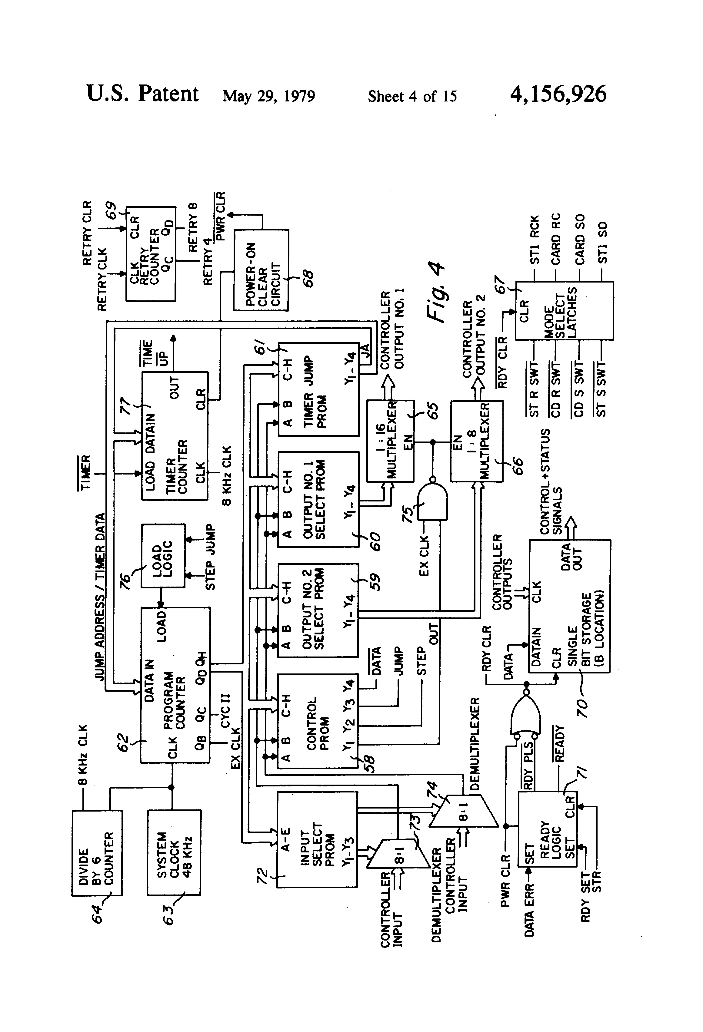 patent us4156926 - prom circuit board programmer
