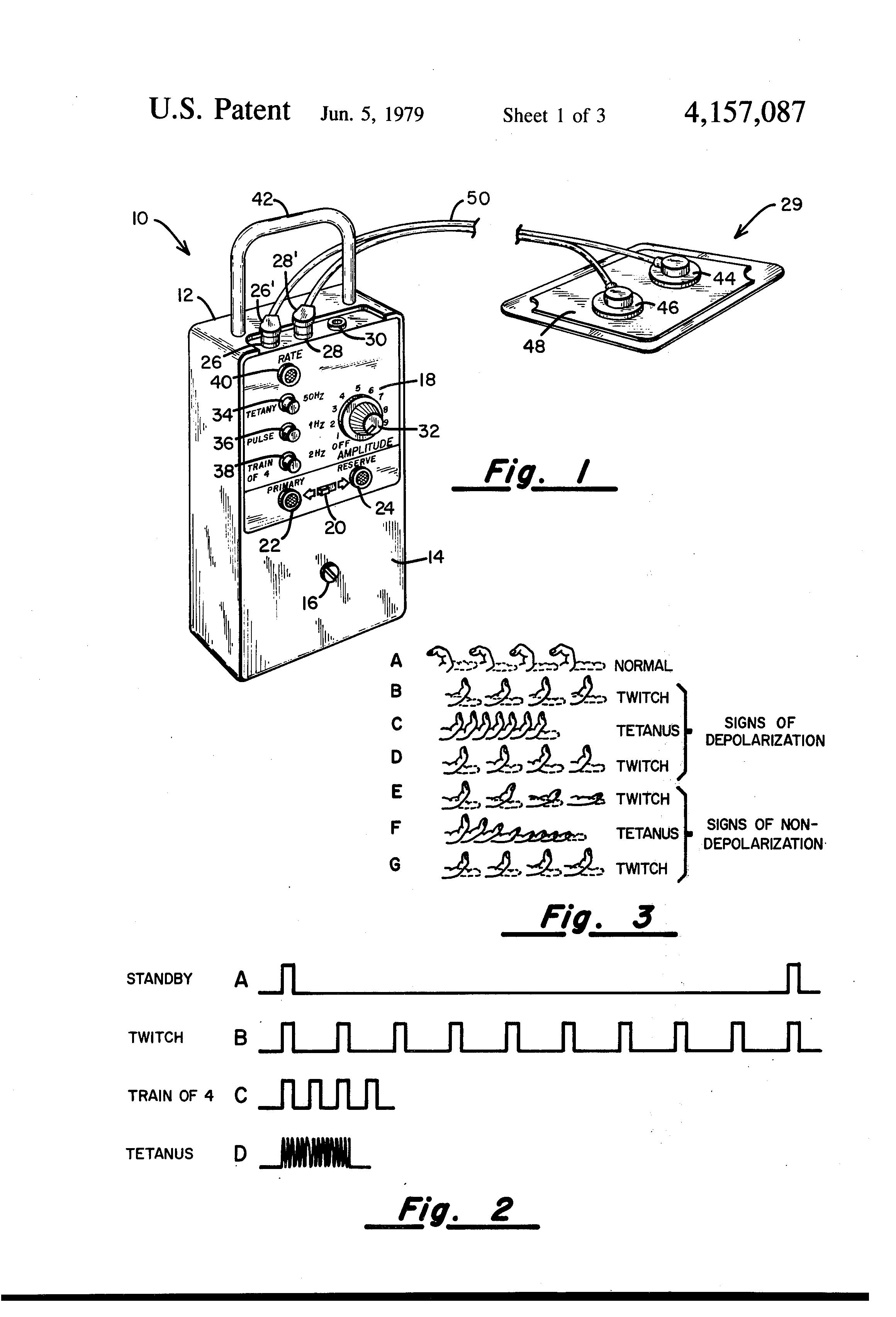 patent us4157087 - peripheral nerve stimulator