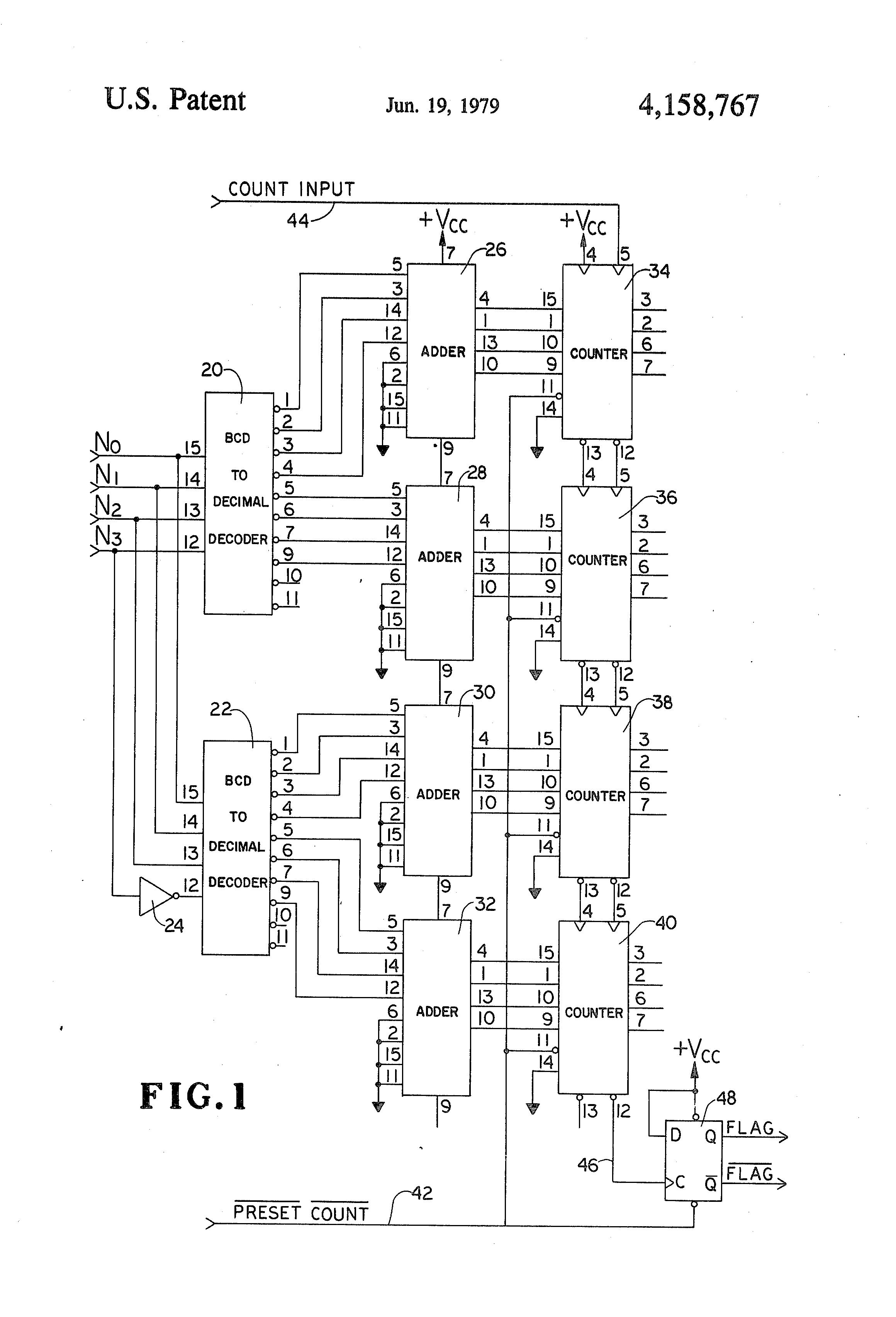 Brevet Us4158767 Programmable Binary Counter Google Brevets Decoder 4 Input Circuit 8 Bit To Decimal Converter 2 Patent Drawing