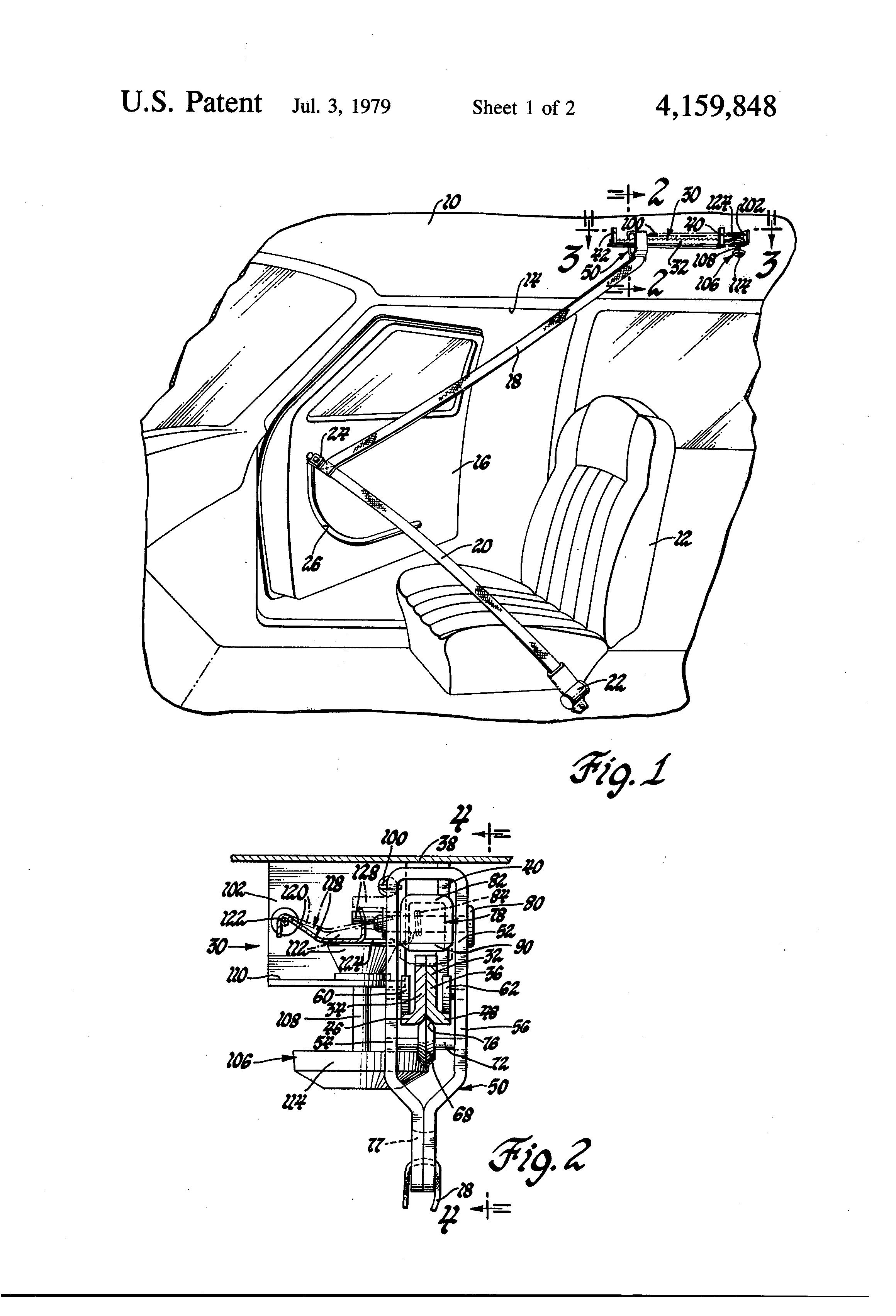 Patent Us4159848 Linear Locking Seat Belt Retractor Patenty Google Ford Diagrams