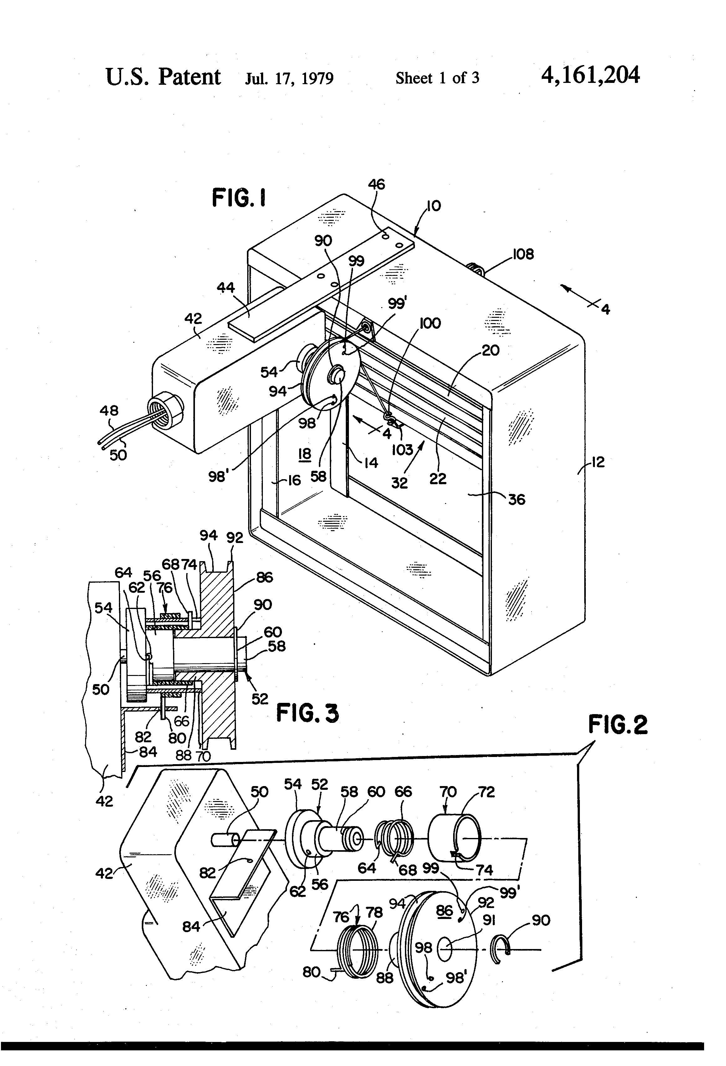 patent us4161204 - motorized smoke and fire damper