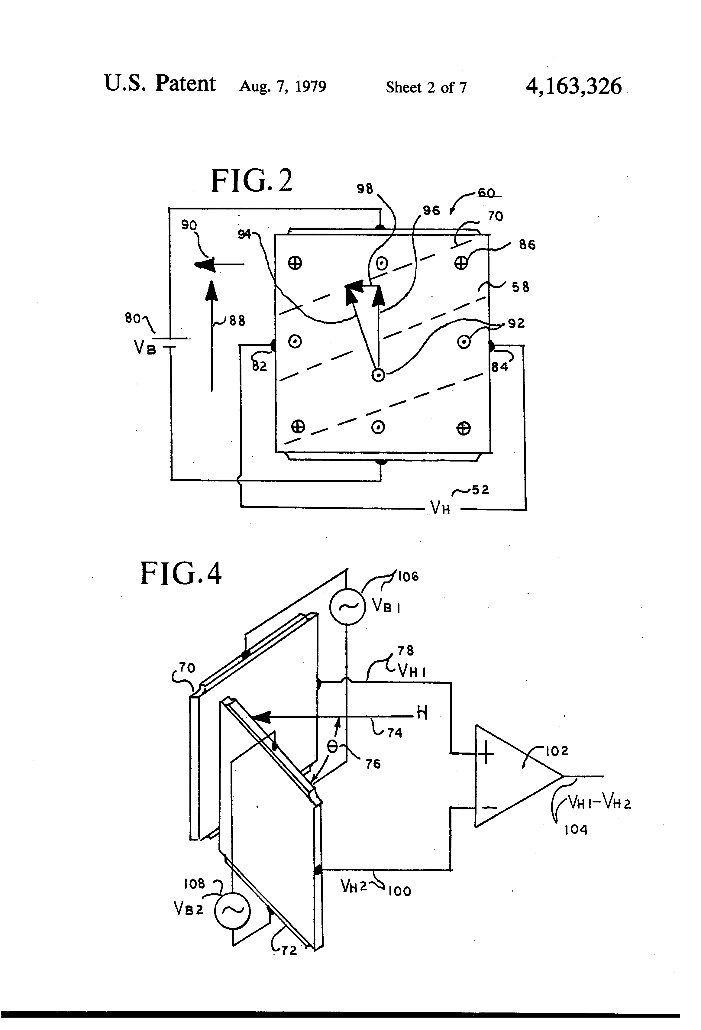 Patent Us4163326 Remote Indicating Solid State Compass Google Digital Circuit Drawing