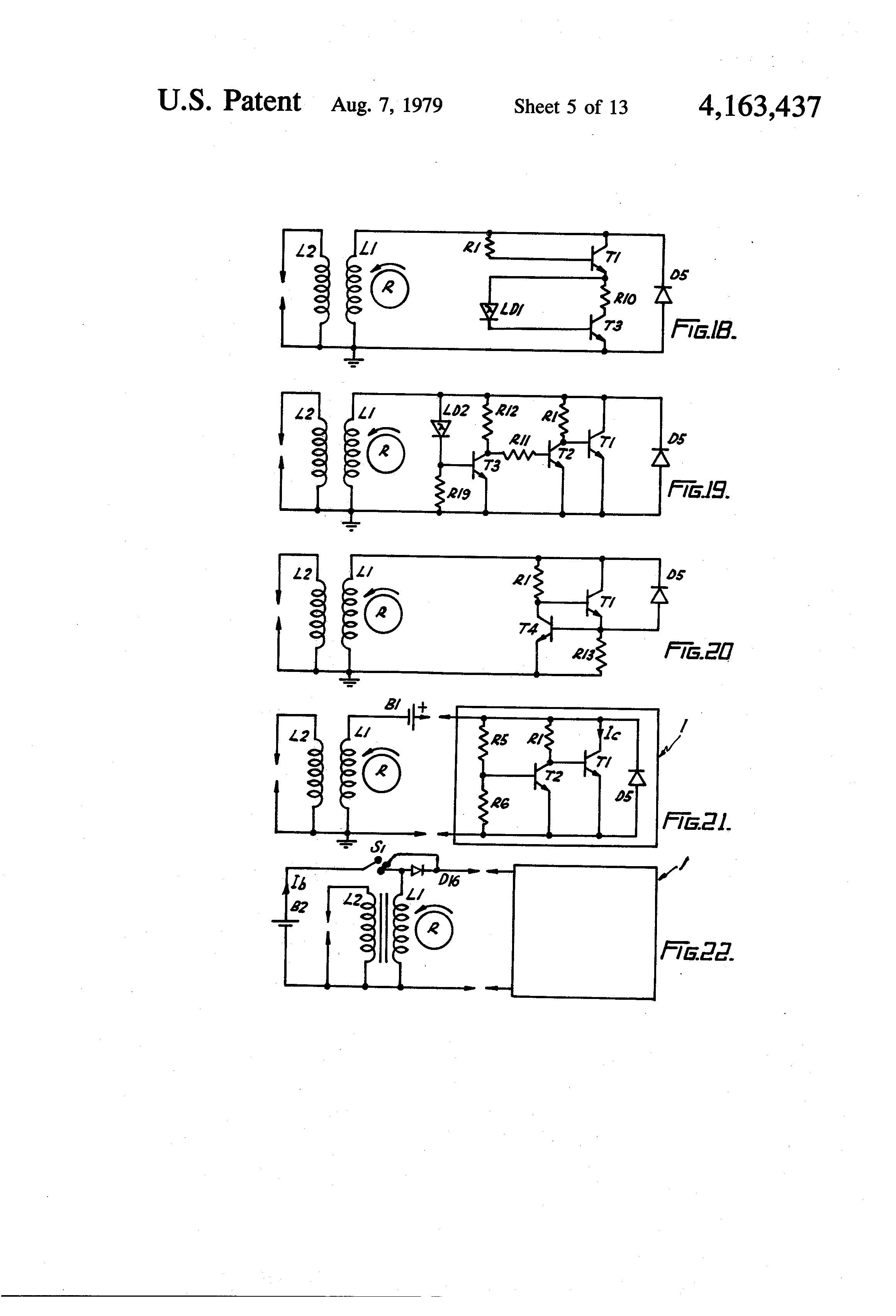 patent us4163437 - transistor ignition circuit