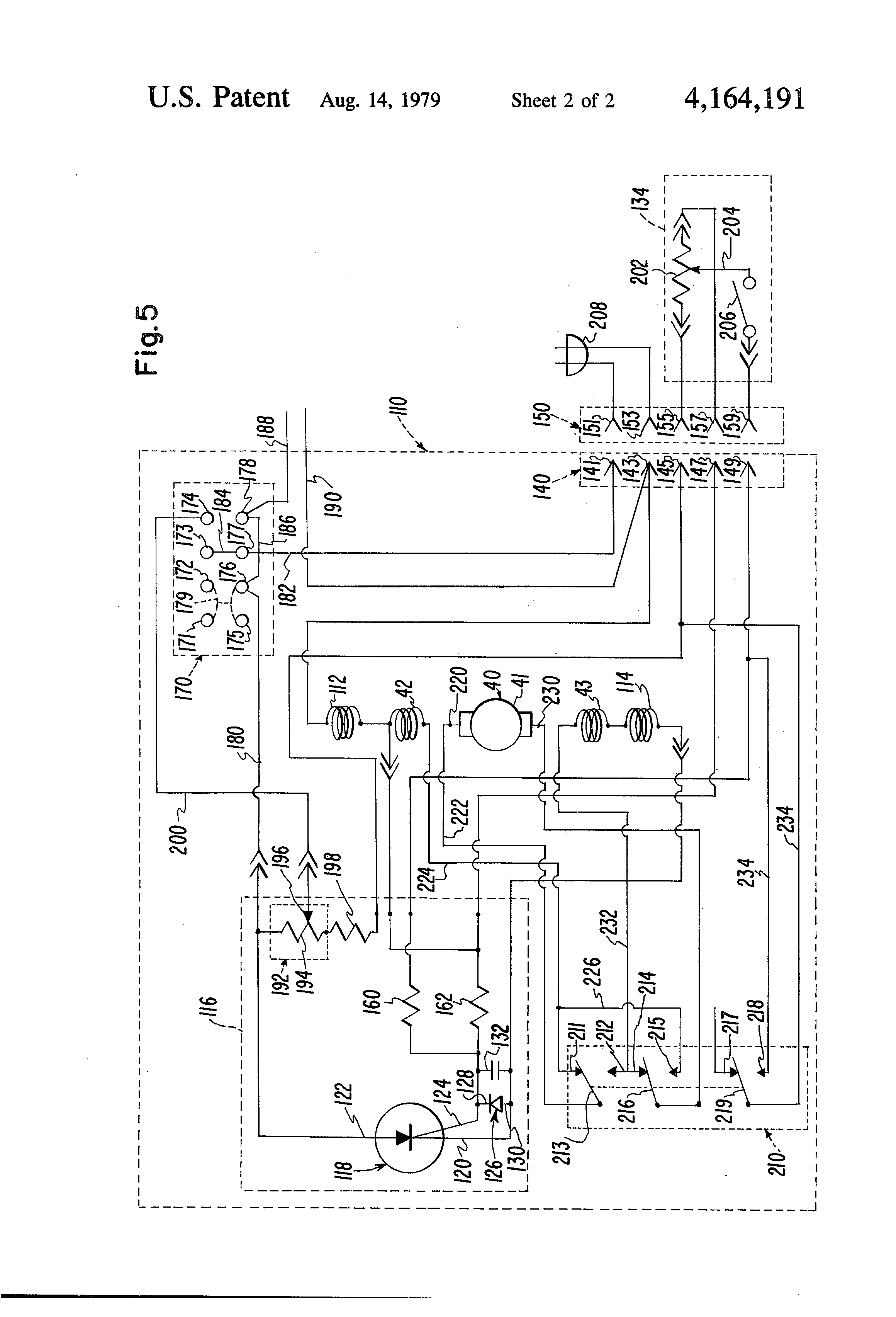 patent us4164191 sewing machine motor actuated pneumatic pump patent drawing